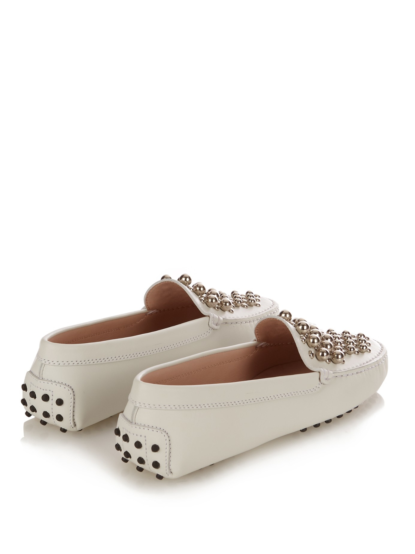 Tod's Gommino Embellished Patent-leather Loafers Clearance Sale D1uTLyl