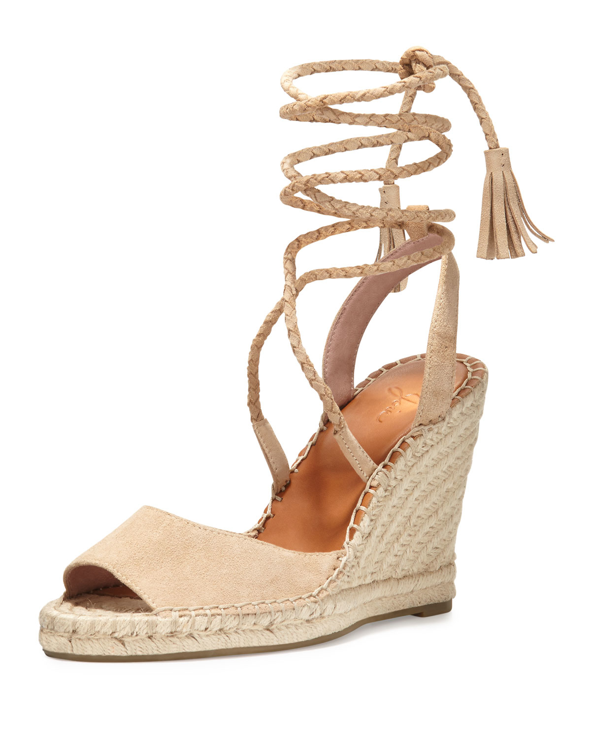 Lyst Joie Phyllis Suede Wedge Espadrilles In Natural