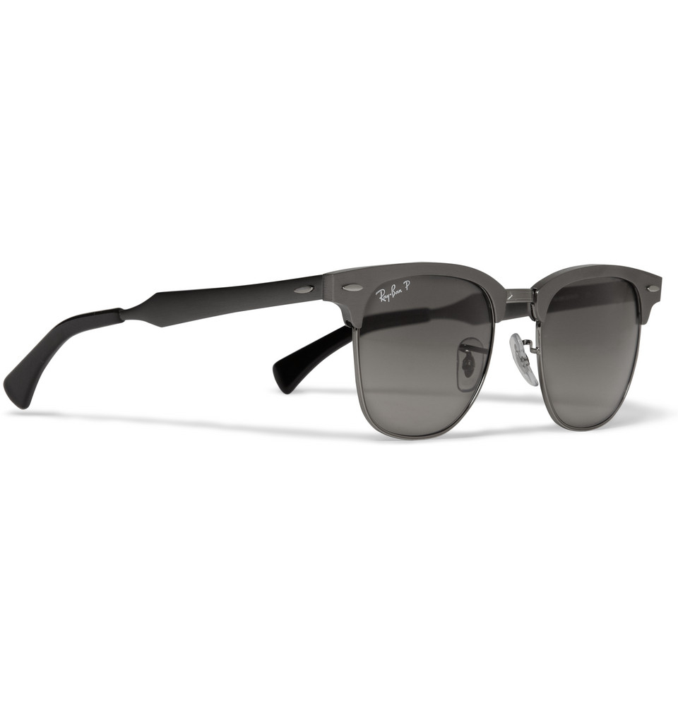 b0ca7f7cc7 ... official store lyst ray ban clubmaster aluminium sunglasses in gray for  men 5f0c1 ffb2d