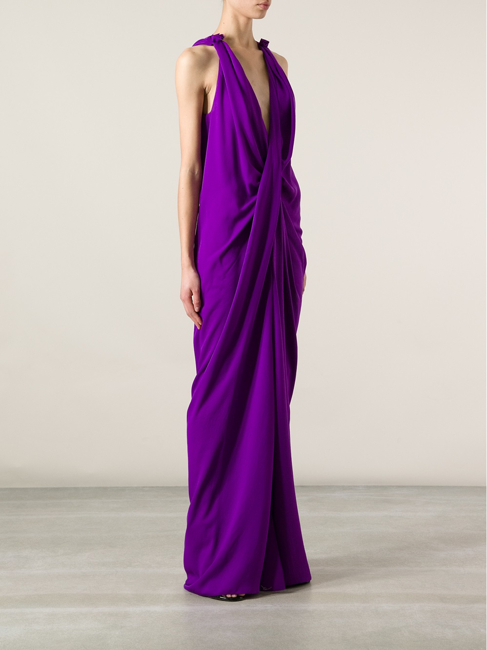Footaction Cheap Price Lanvin halterneck gown Clearance Reliable G5Y4EKPGll