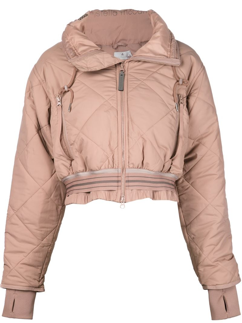 Lyst Adidas By Stella Mccartney Cropped Padded Jacket In