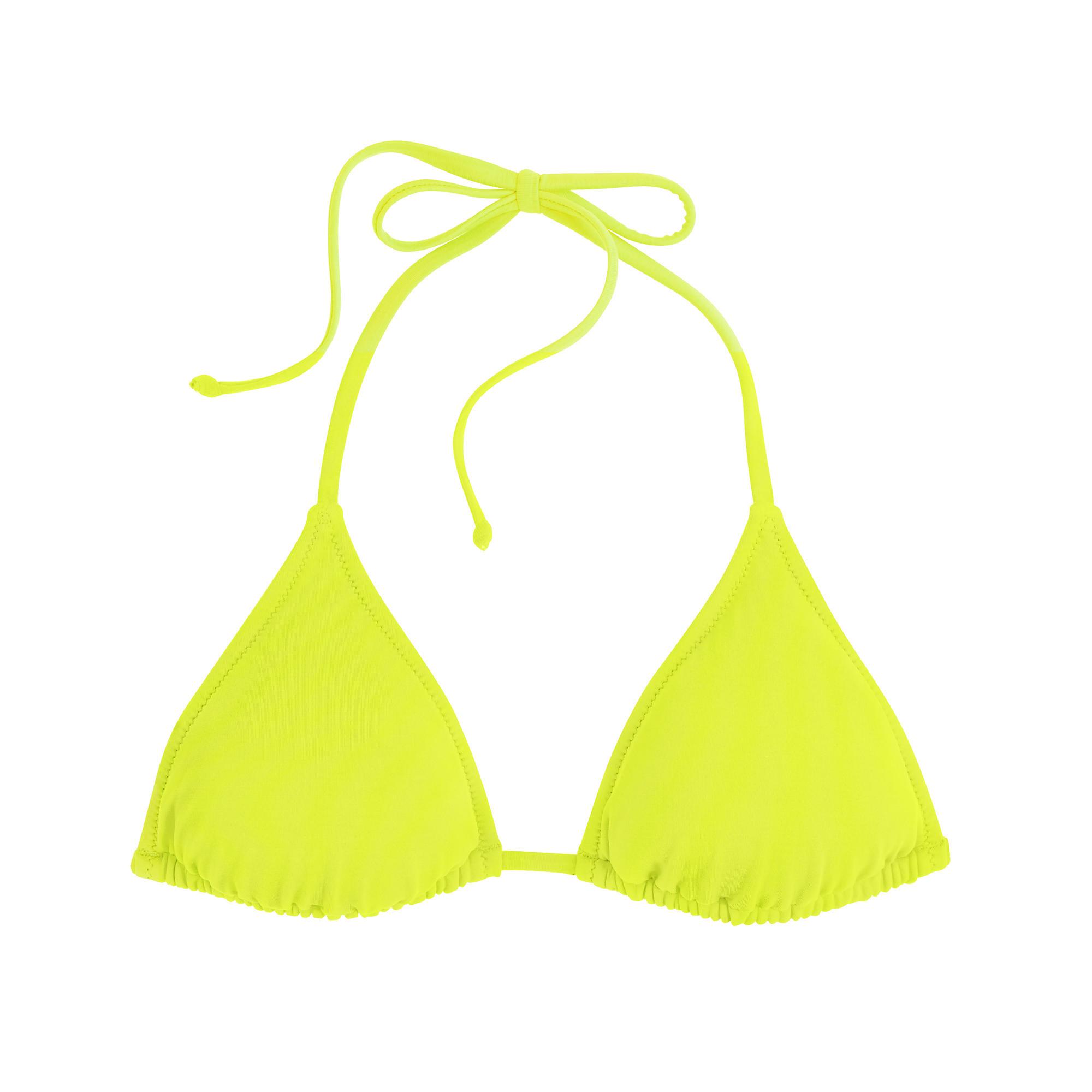 J.crew Neon String Bikini Top in Yellow (neon yellow) | Lyst