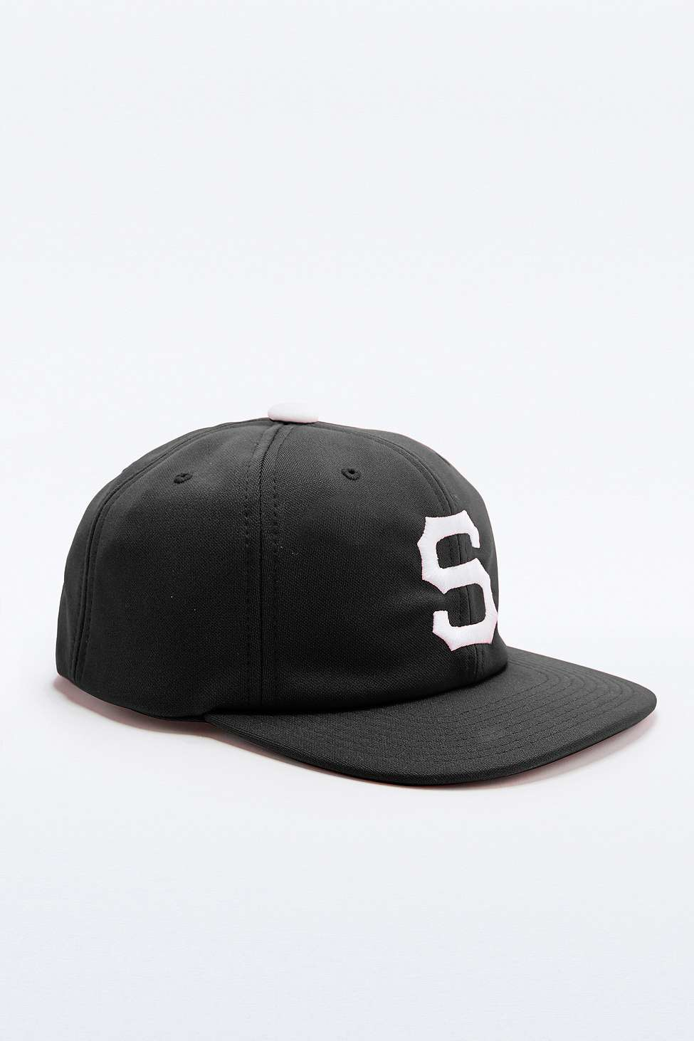 Stussy Short Brim Old S Black Snapback Cap in Black for Men - Lyst bccab7e65934