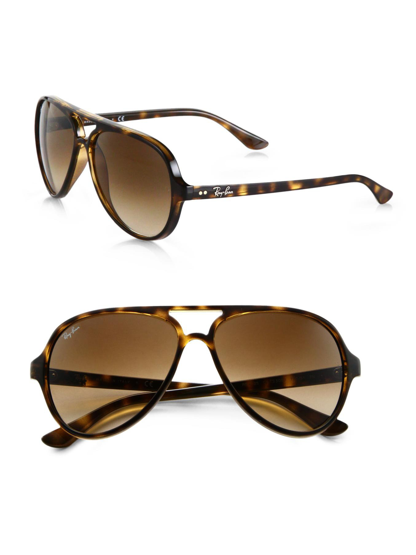 ray ban iconic cats 5000 aviator sunglasses in brown lyst. Black Bedroom Furniture Sets. Home Design Ideas