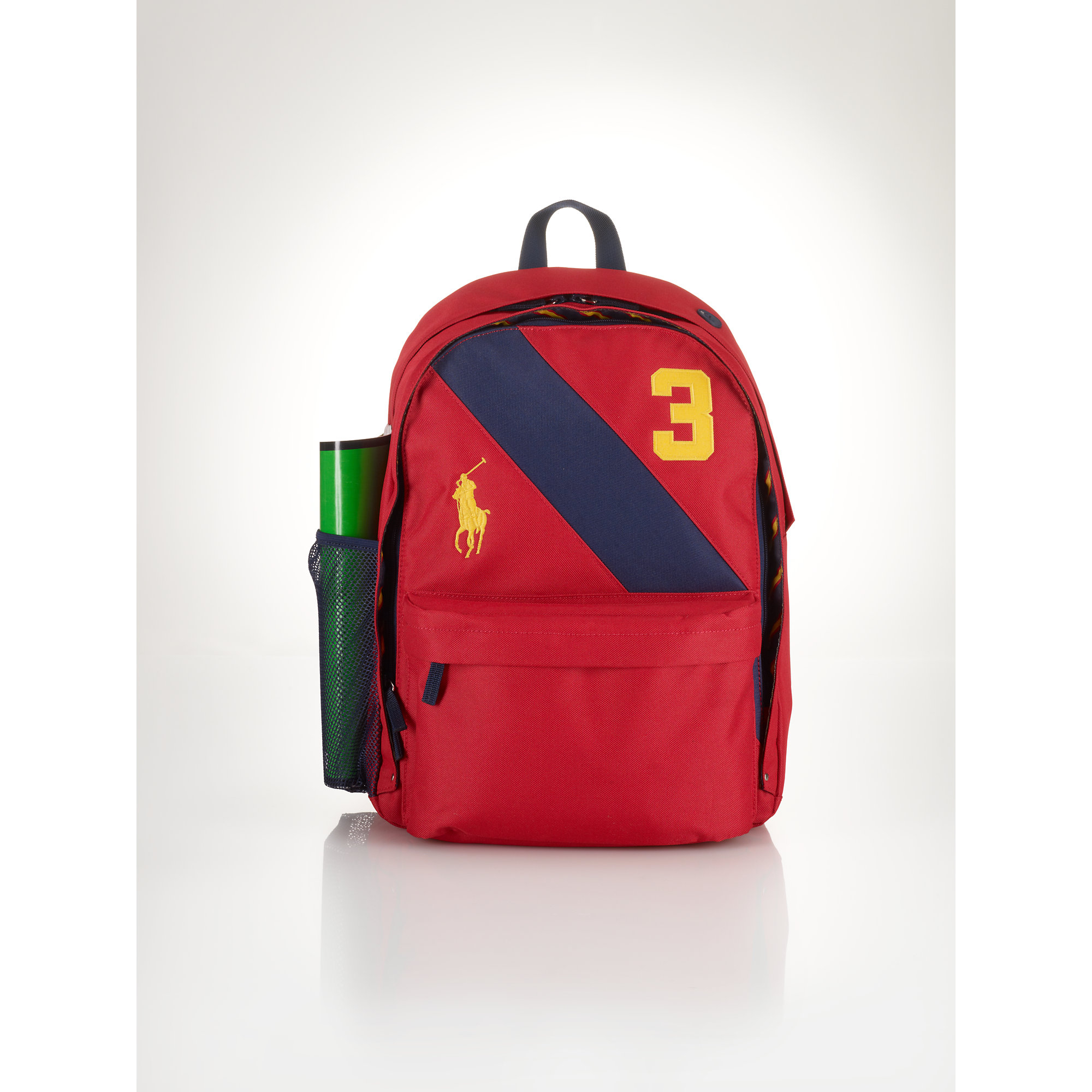 14a8a837b61d Lyst - Ralph Lauren Banner-Striped Backpack in Red