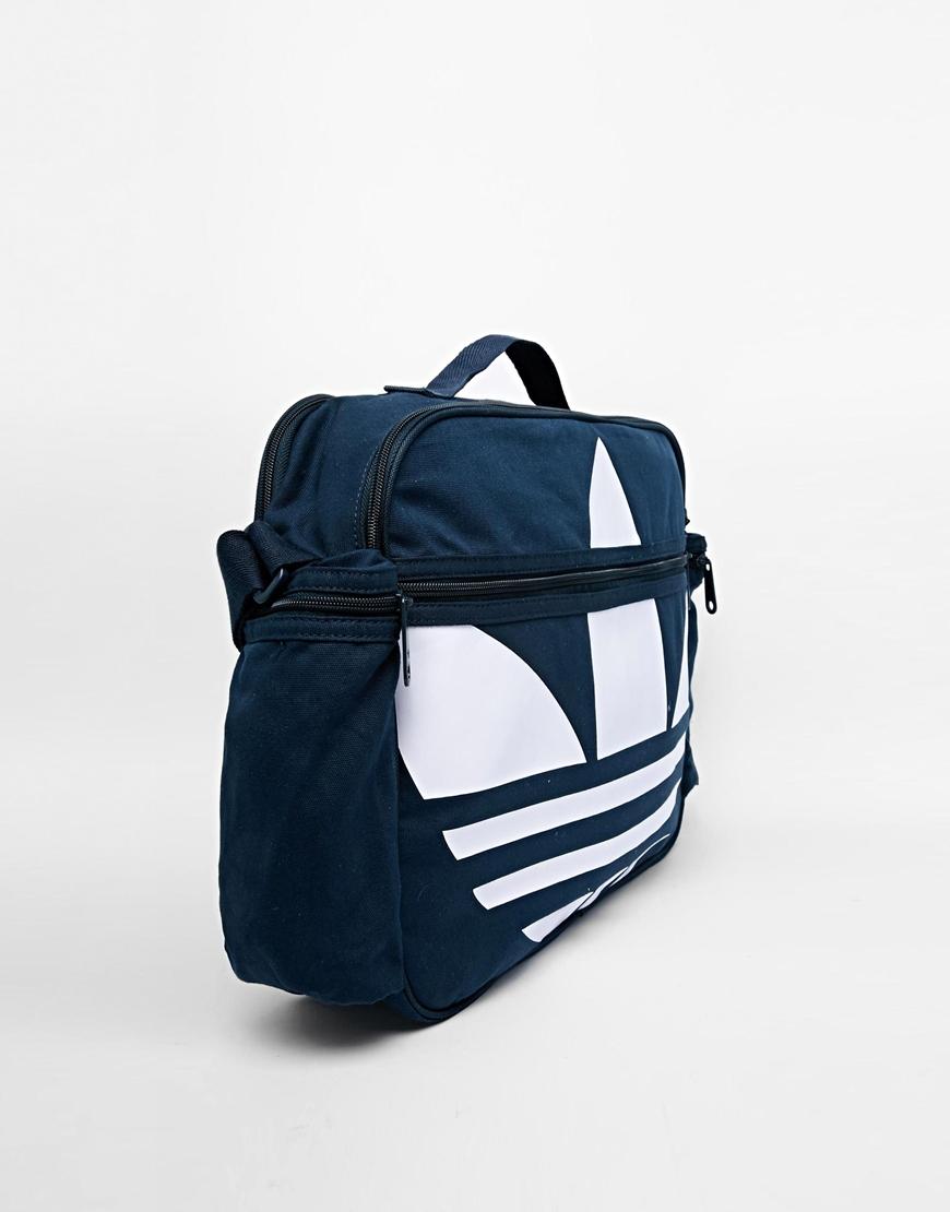 86a5a7937a Lyst - adidas Originals Canvas Messenger Bag in Blue for Men