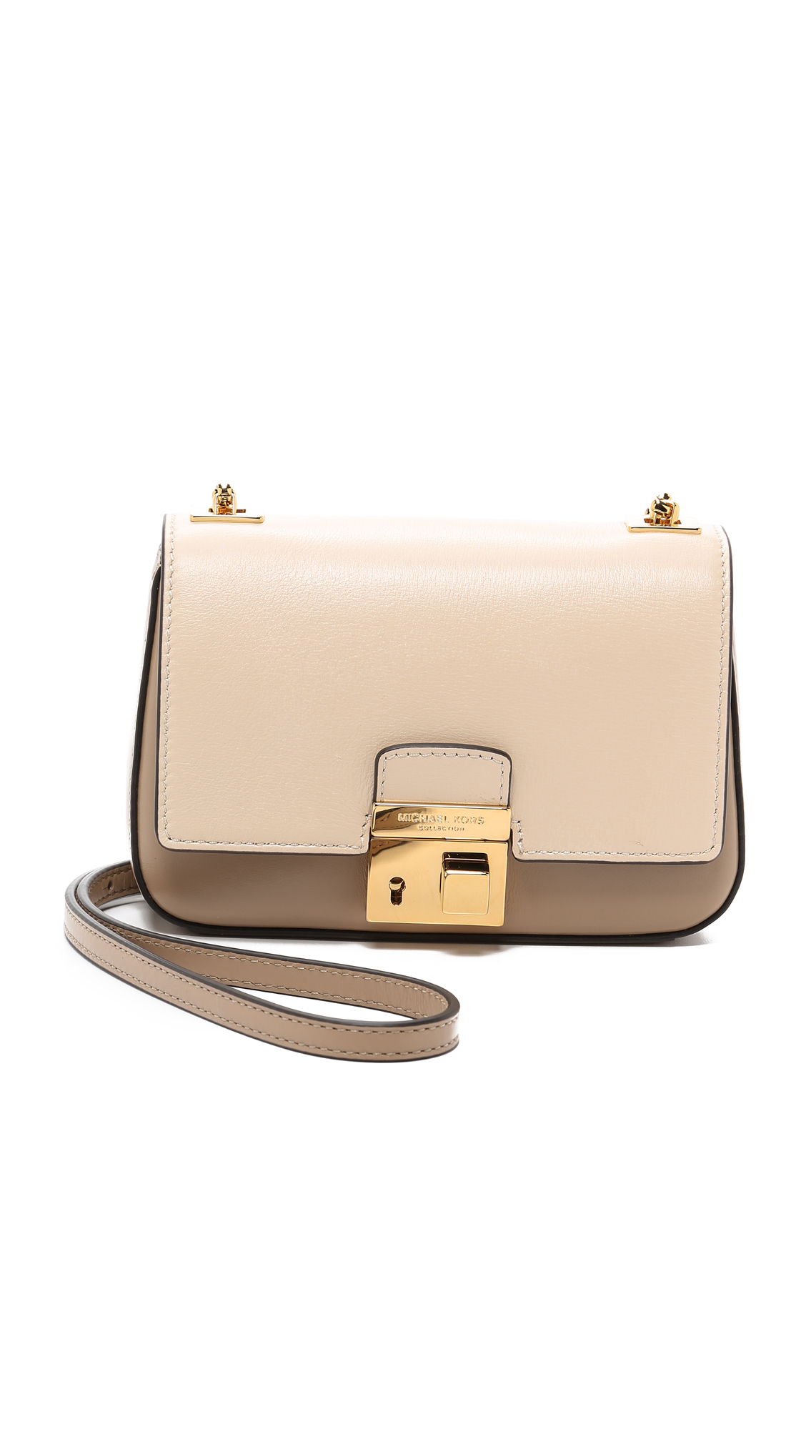 b0ea2c9c661 Michael Kors Gia Small Chain Bag in Natural - Lyst