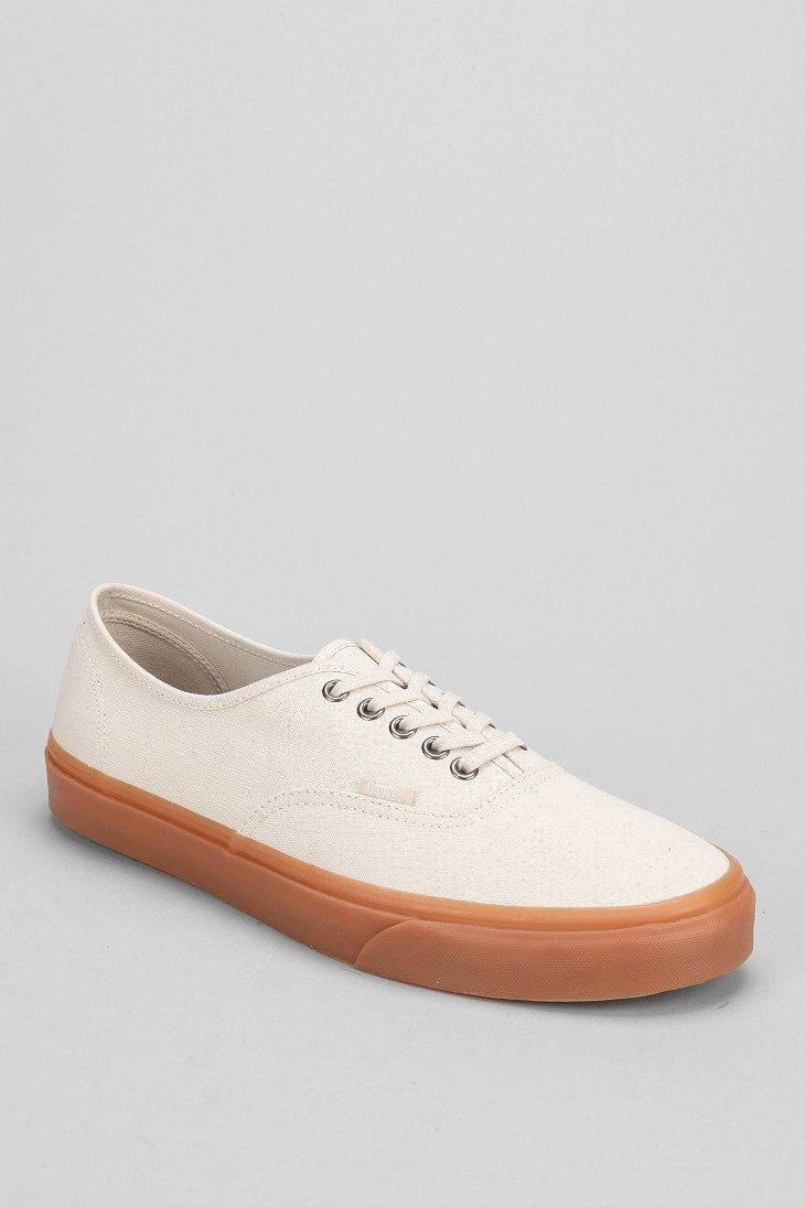 40a8e4dc5a Lyst - Vans Authentic Gum-Sole Sneaker in Natural for Men