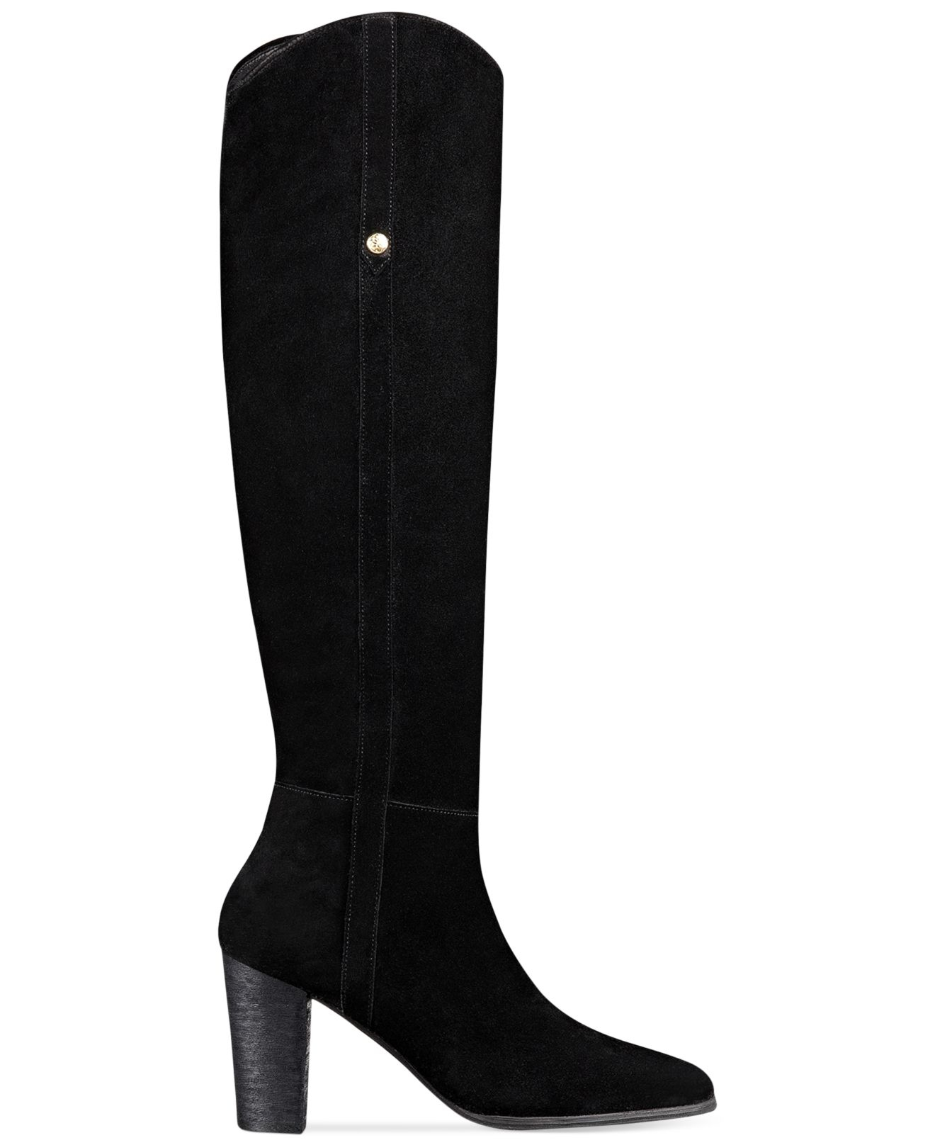 guess s honon suede boots in black black suede