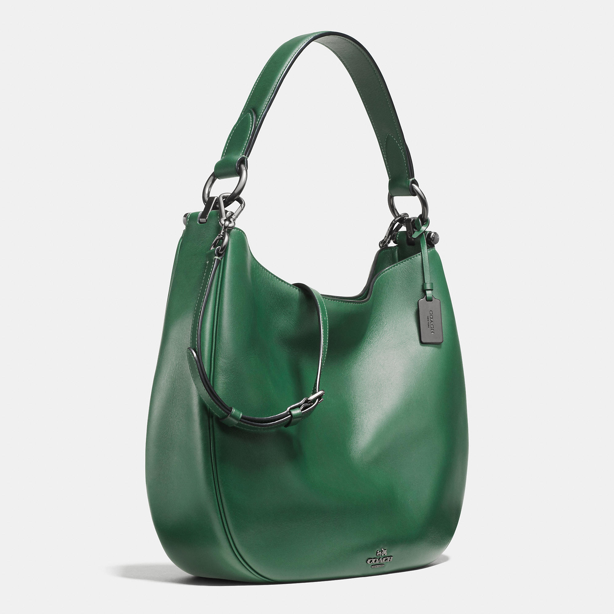 Coach Nomad Leather Hobo in Natural | Lyst