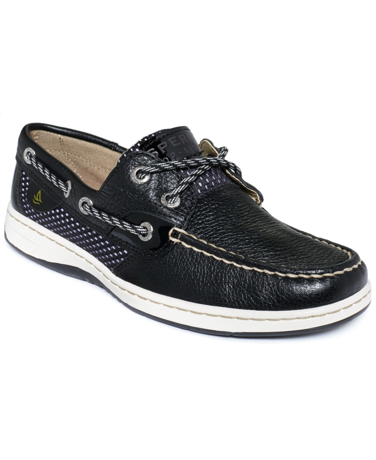 Sperry top-sider Sperry Women'S Bluefish Boat Shoes in Black | Lyst