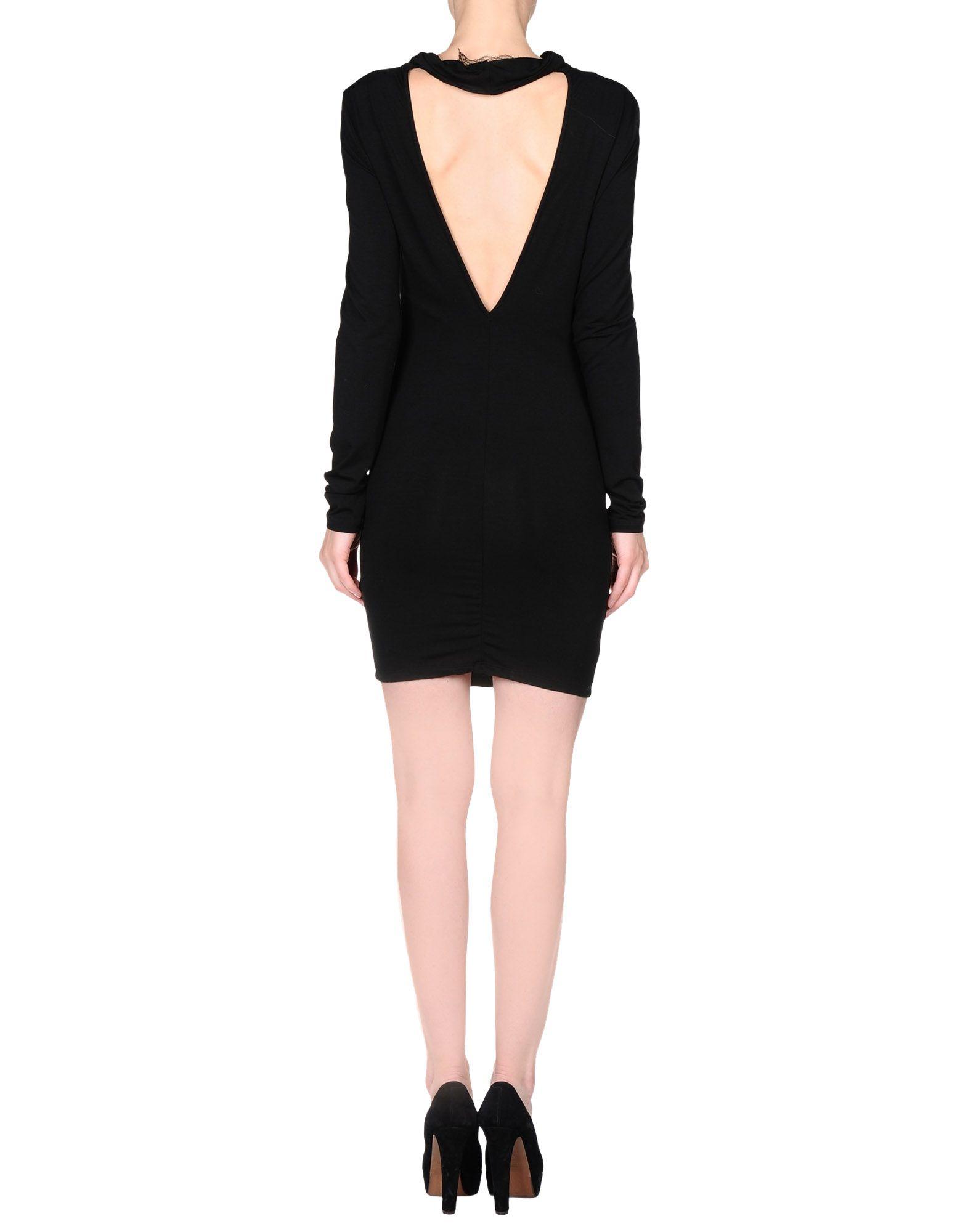 6a542c015e Lyst - Patrizia Pepe Short Dress in Black