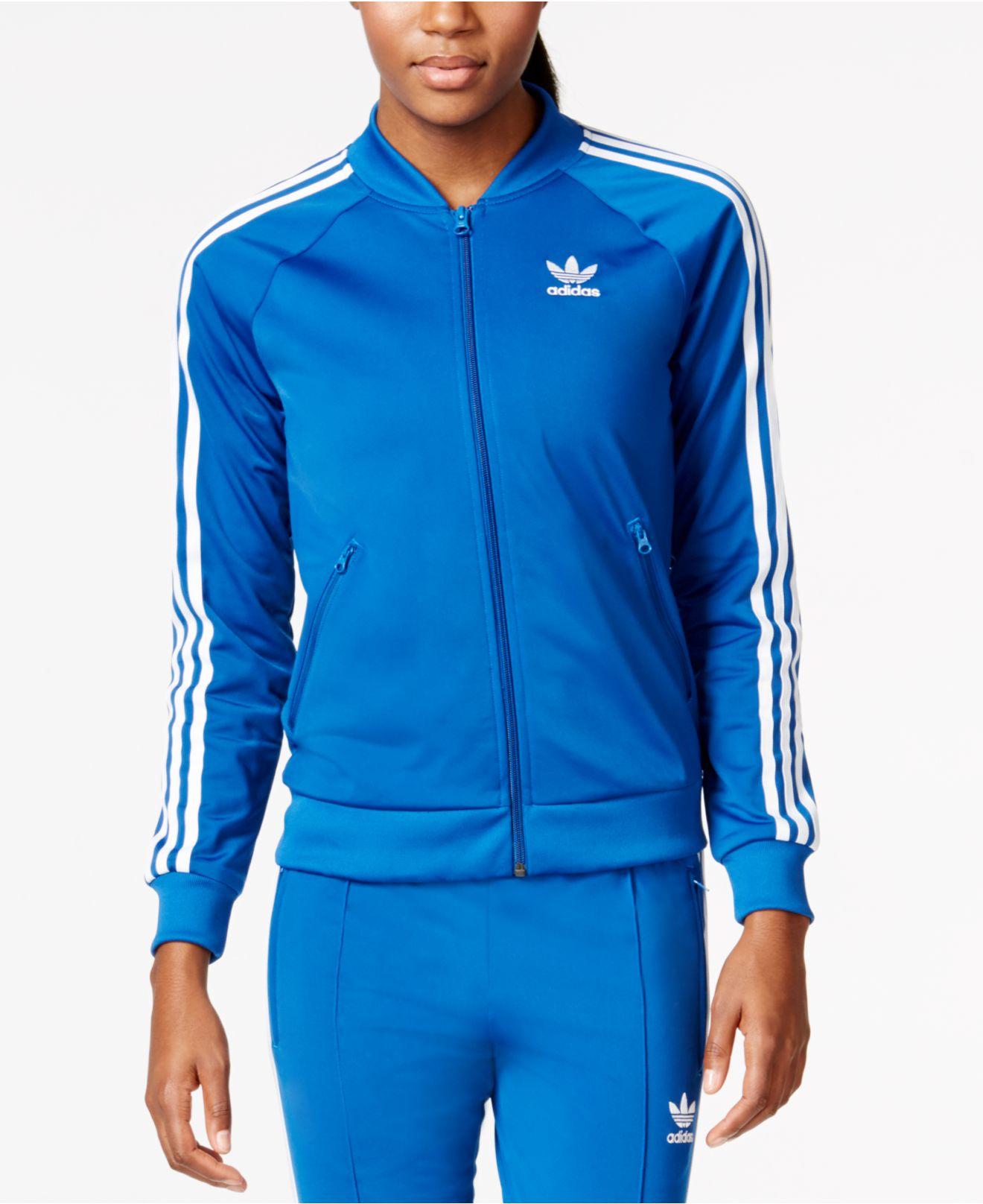 d1a990a7eccdc1 adidas Originals Originals Supergirl Track Jacket in Blue - Lyst