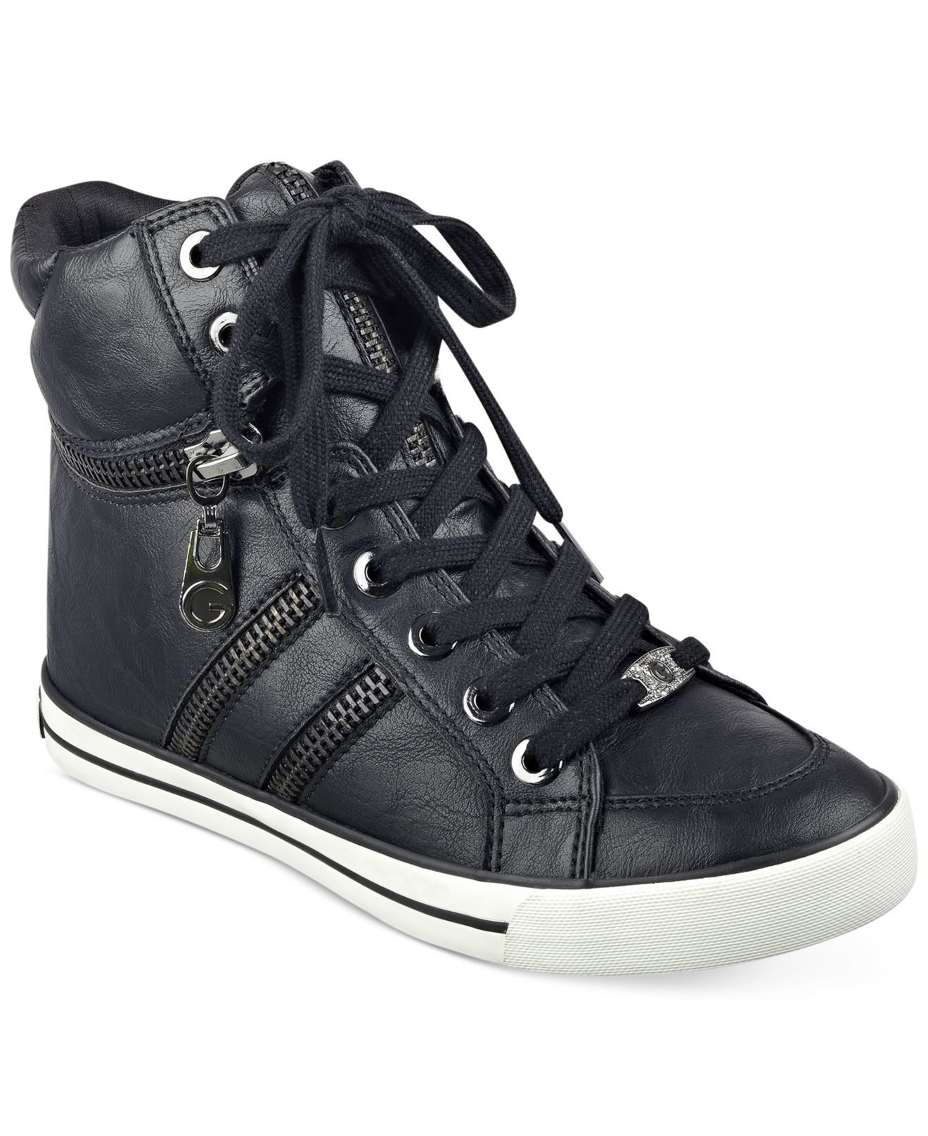 Other classic-styled high-top sneakers include the PF Flyers Center Hi and the High Top Vulcanized sneaker of the Japanese-based brand Shoes Like Pottery. High-Top Sneakers with Allover Print. A definite eye-catcher, this type of sneaker have graphics all over its upper.