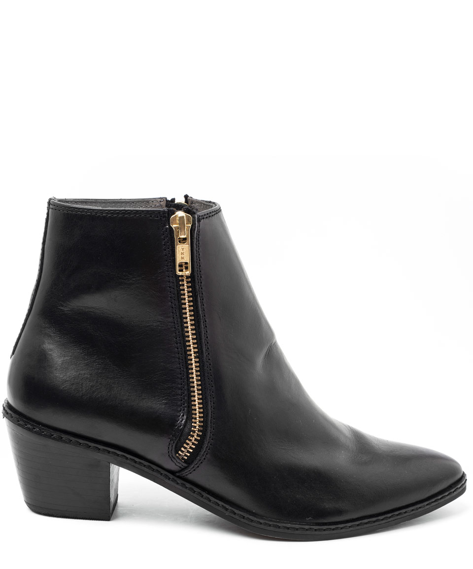 h by hudson black azi leather ankle boots in black lyst