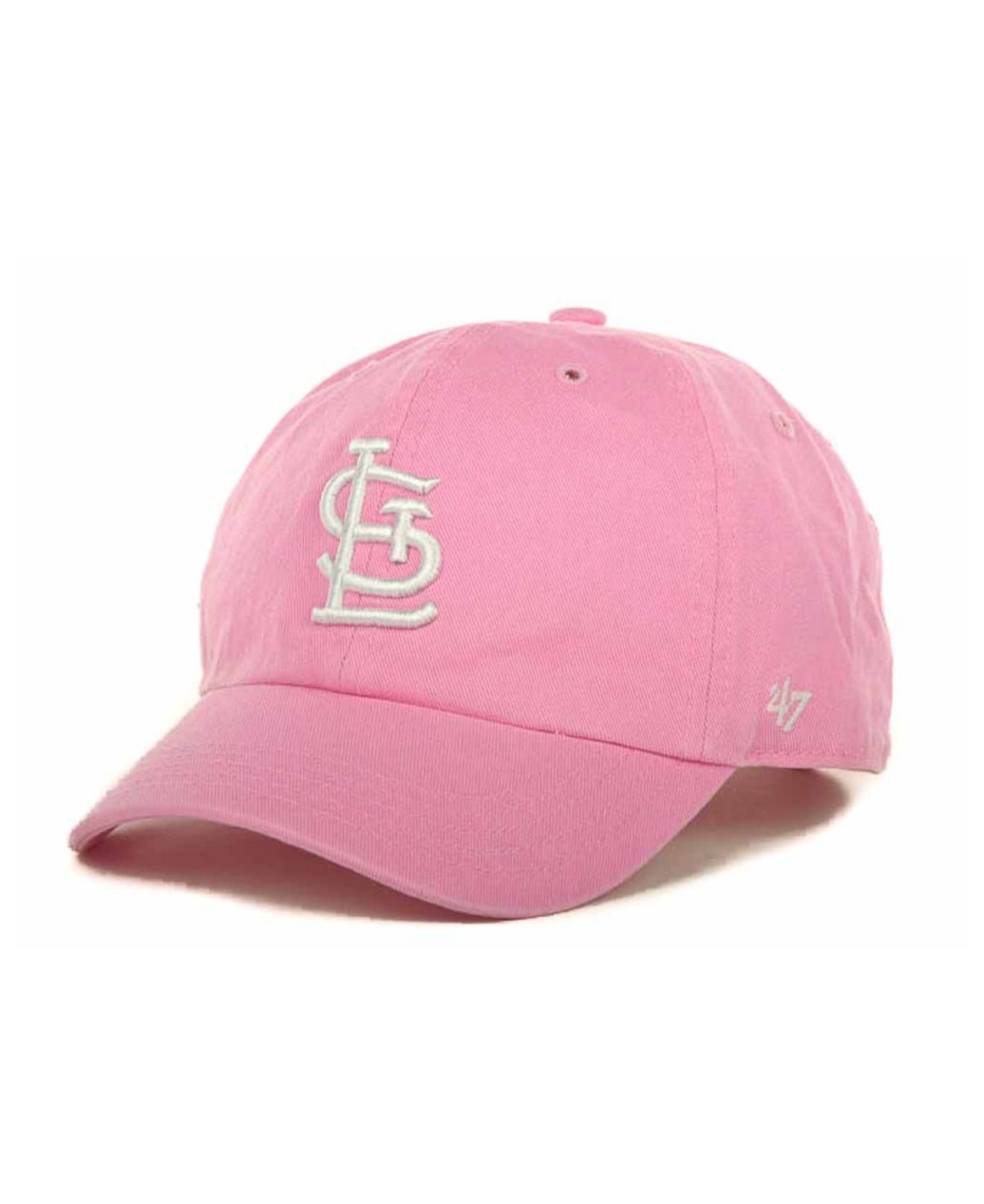 online store 03cc1 9e857 ... shopping lyst 47 brand kids st. louis cardinals clean up cap in pink  for men