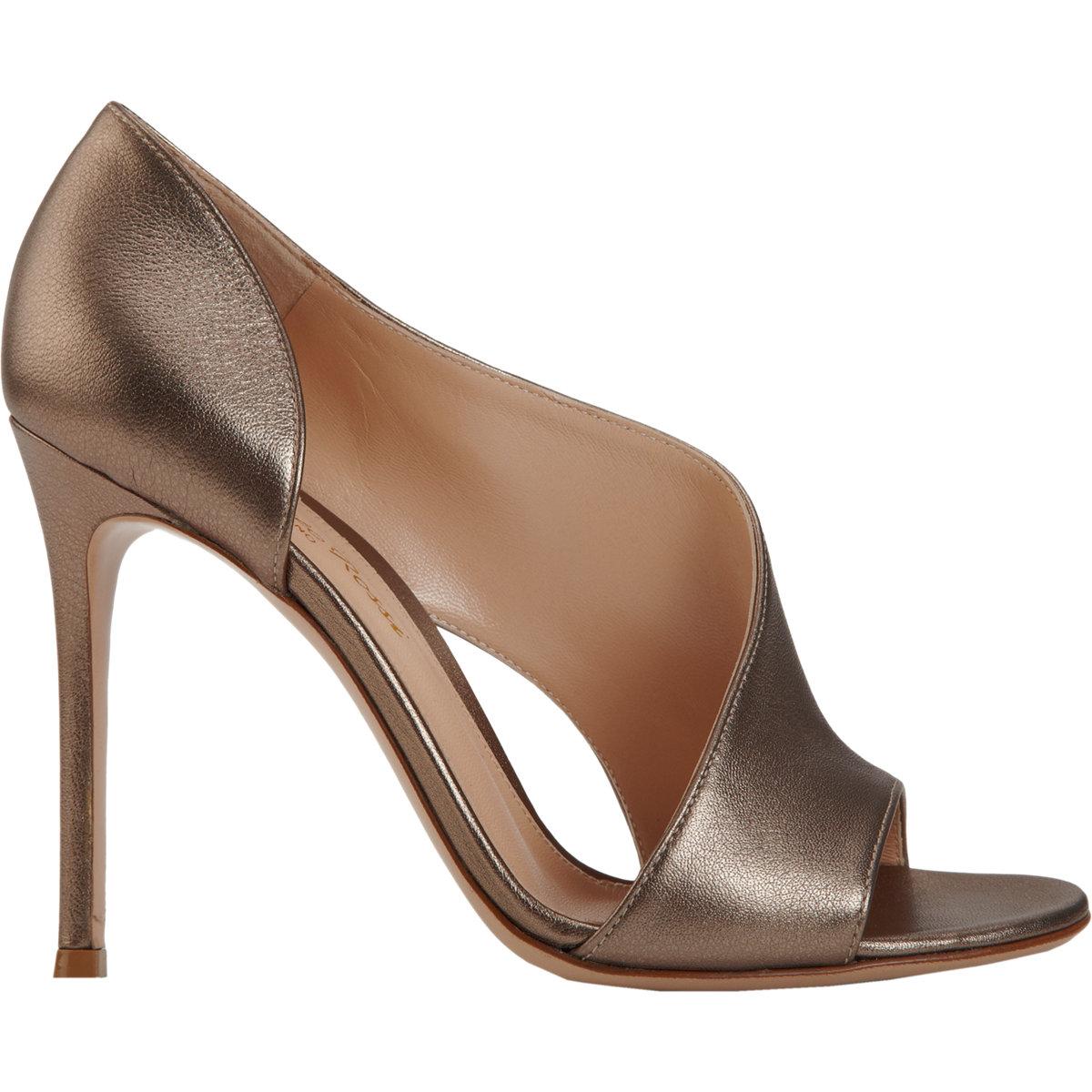 Gianvito Rossi Asymmetric Glitter Sandals Fvha212