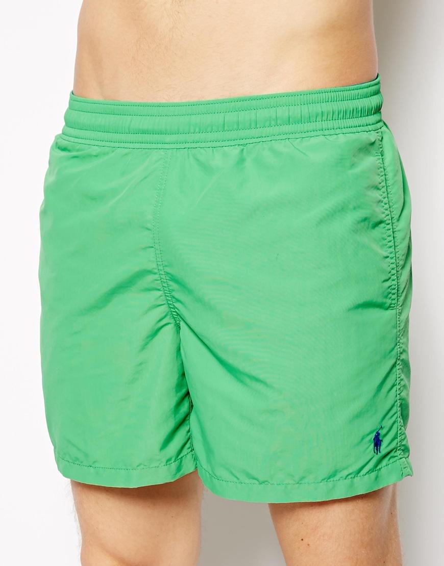 2d7d5e6dff ... discount lyst polo ralph lauren green hawaiian swim shorts in green for  men c03d4 e7981