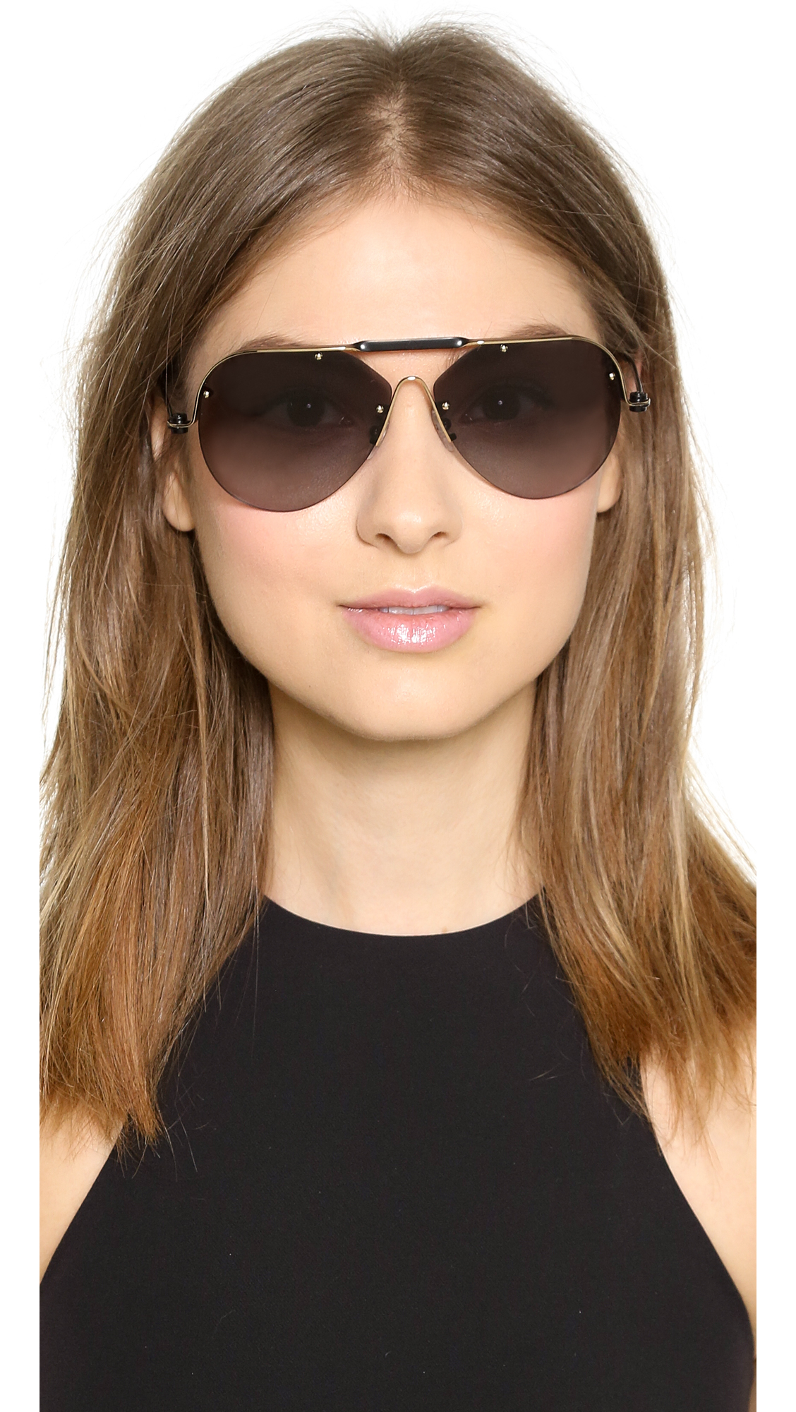 700623a9d94 Lyst - Givenchy Aviator Sunglasses - Shiny Grey Gold Violet in Black