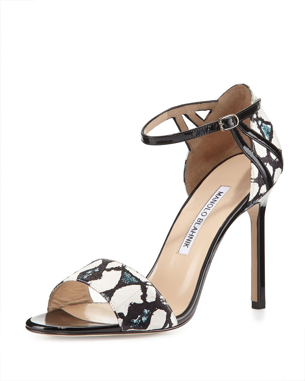 cheap buy cheap sale sneakernews Manolo Blahnik Studded Ankle Strap Sandals 4soh5Eng