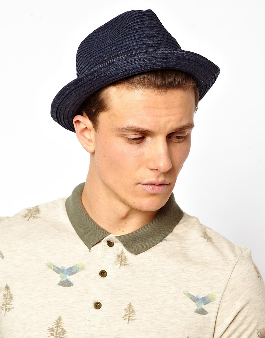 4fb0f6b8e7c Lyst - Esprit Summer Pork Pie Hat in Blue for Men