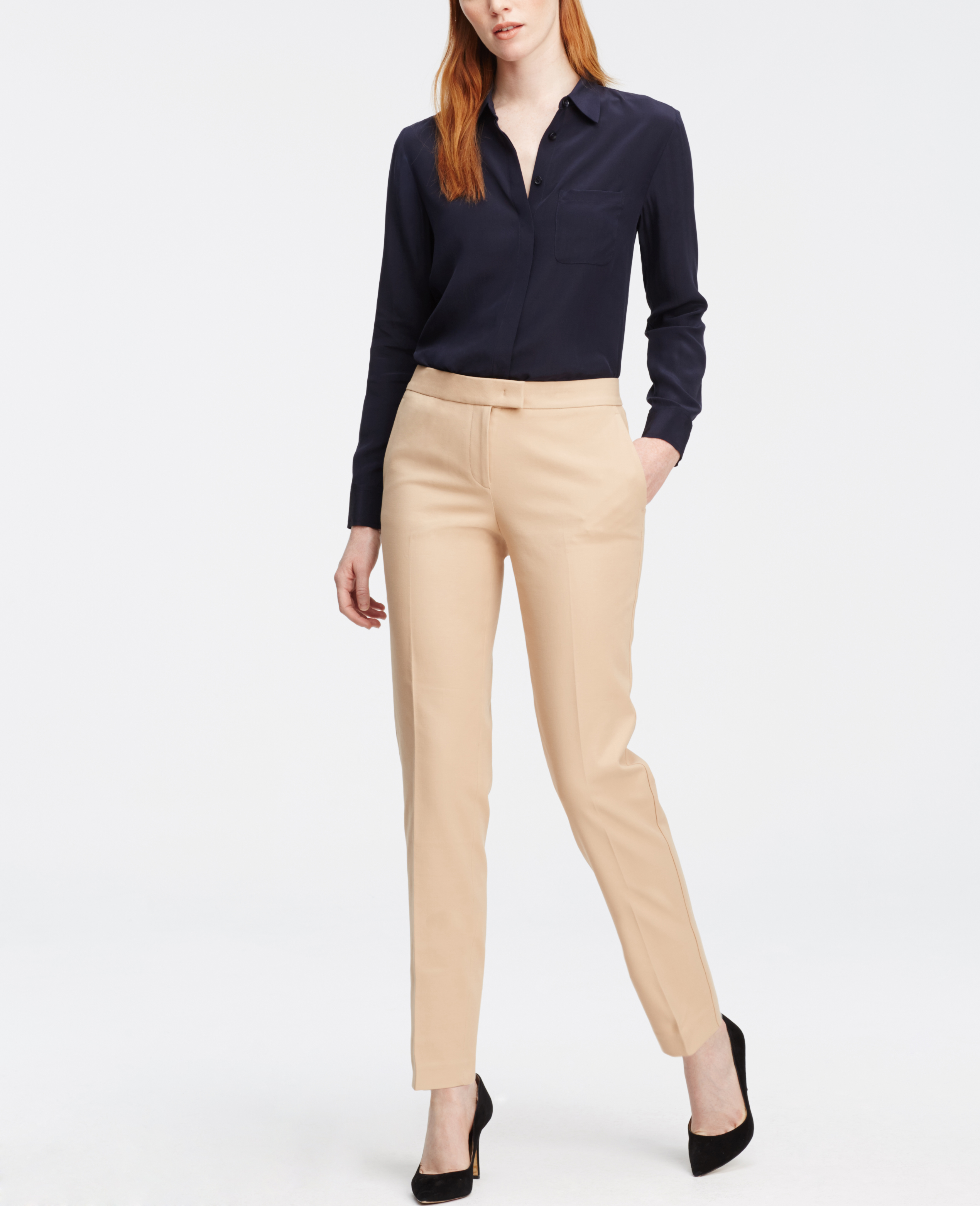 Ann Taylor Tall Devin Ankle Pants In Natural Lyst