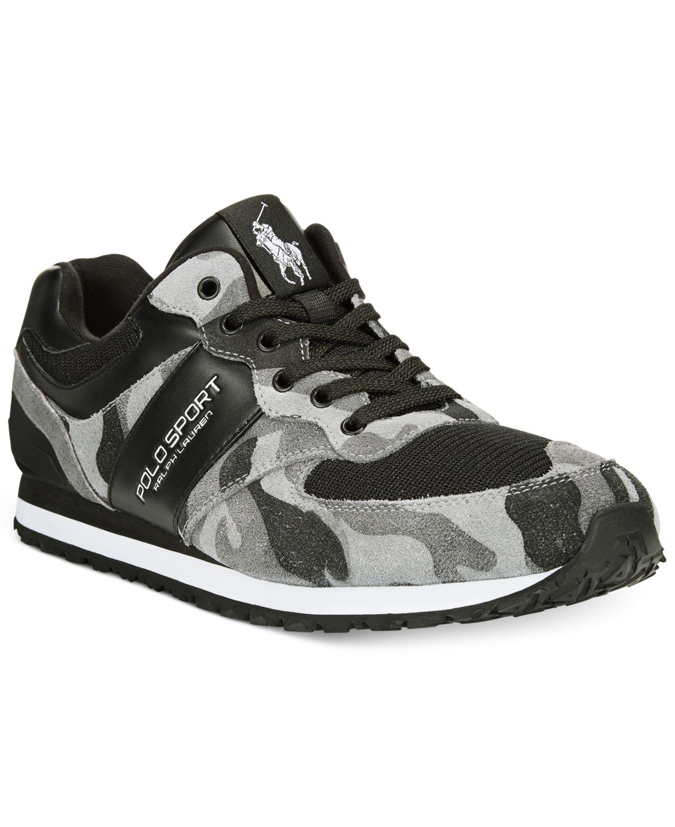 2368ef3b Polo Ralph Lauren Slaton Sport Sneakers in Black for Men - Lyst