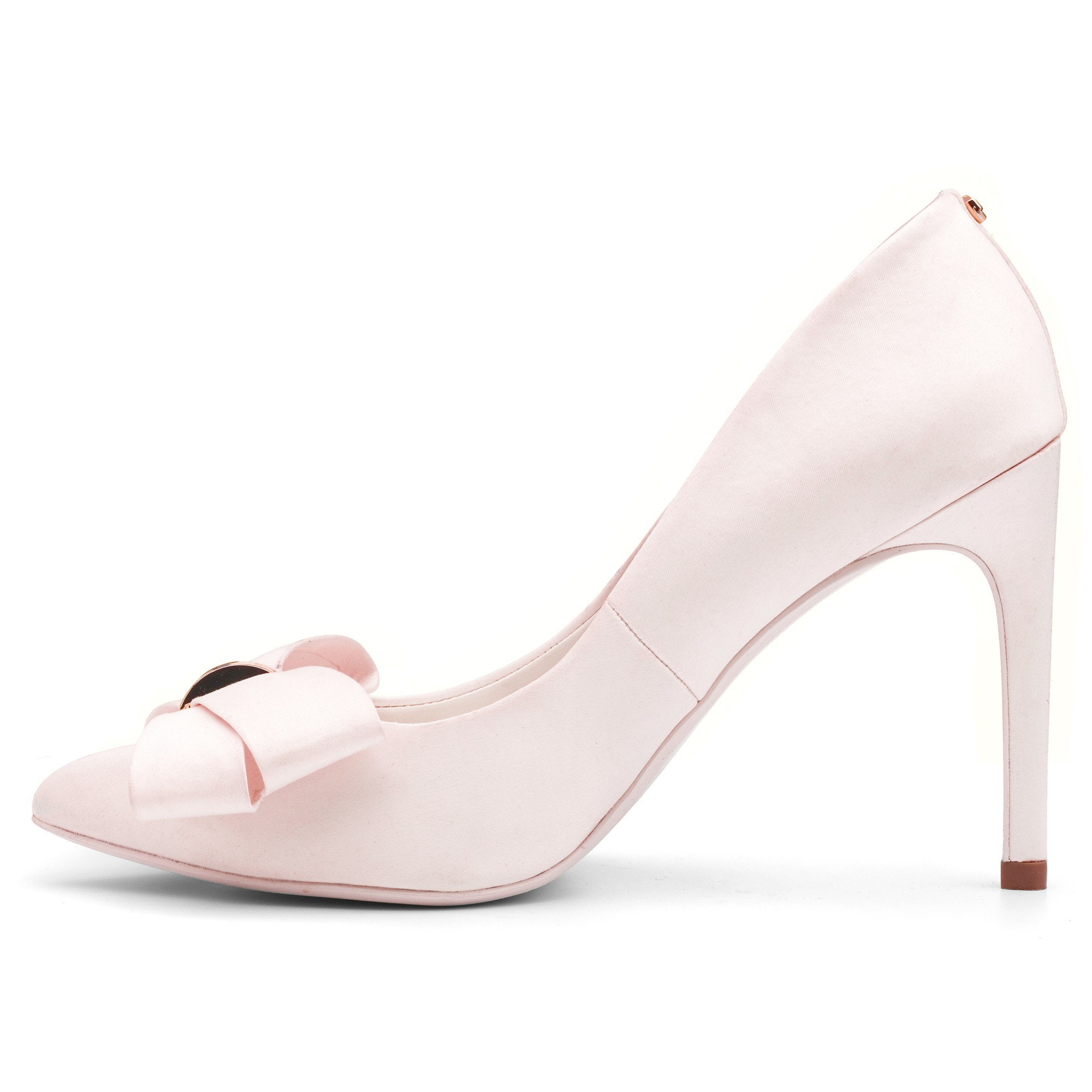 ted baker ichlibi pointed toe stiletto court shoes in pink
