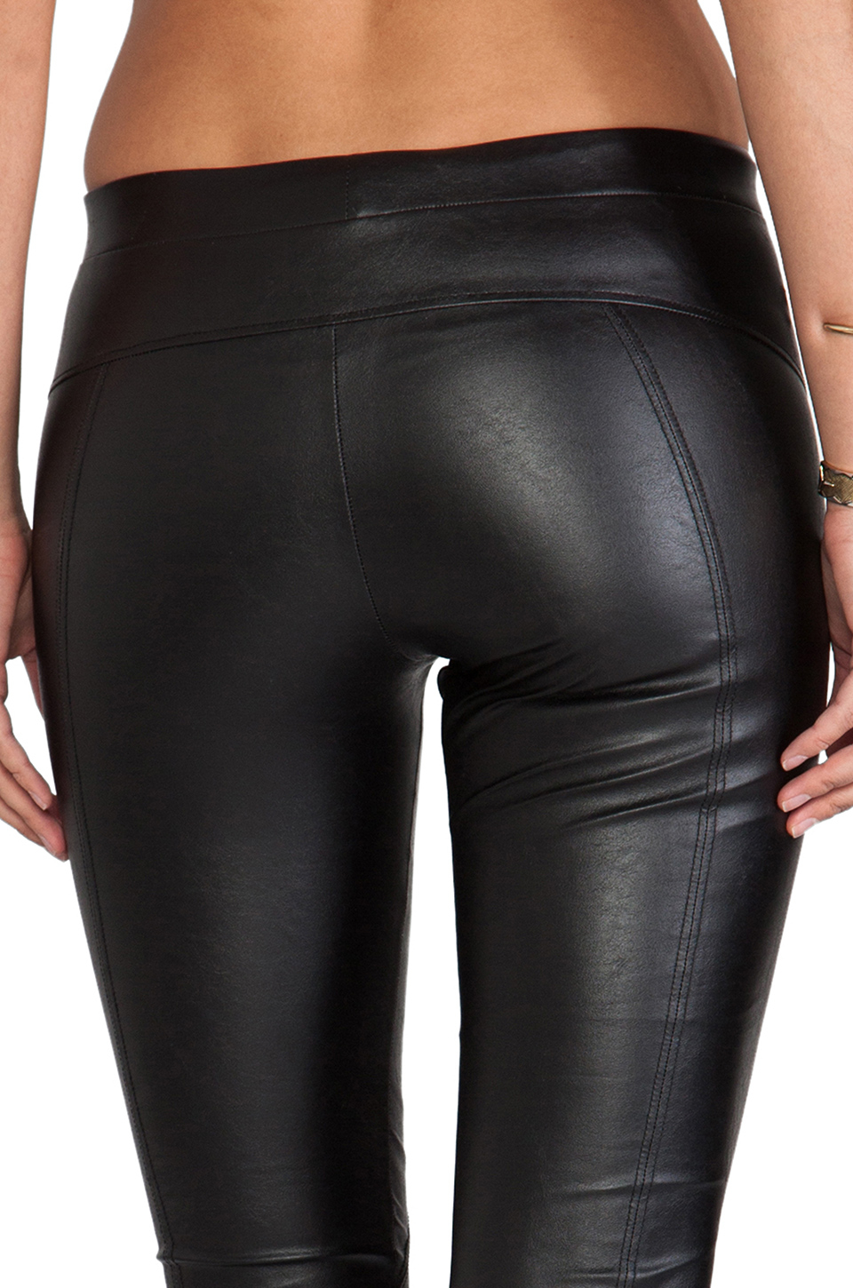21cbffa14839f David Lerner Basic Faux Leather Legging in Black in Black - Lyst