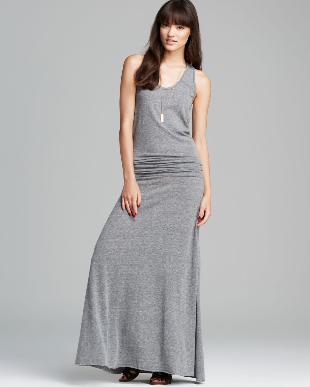 Grey Dress: Alternative Apparel Maxi Dress Go Fish In Gray