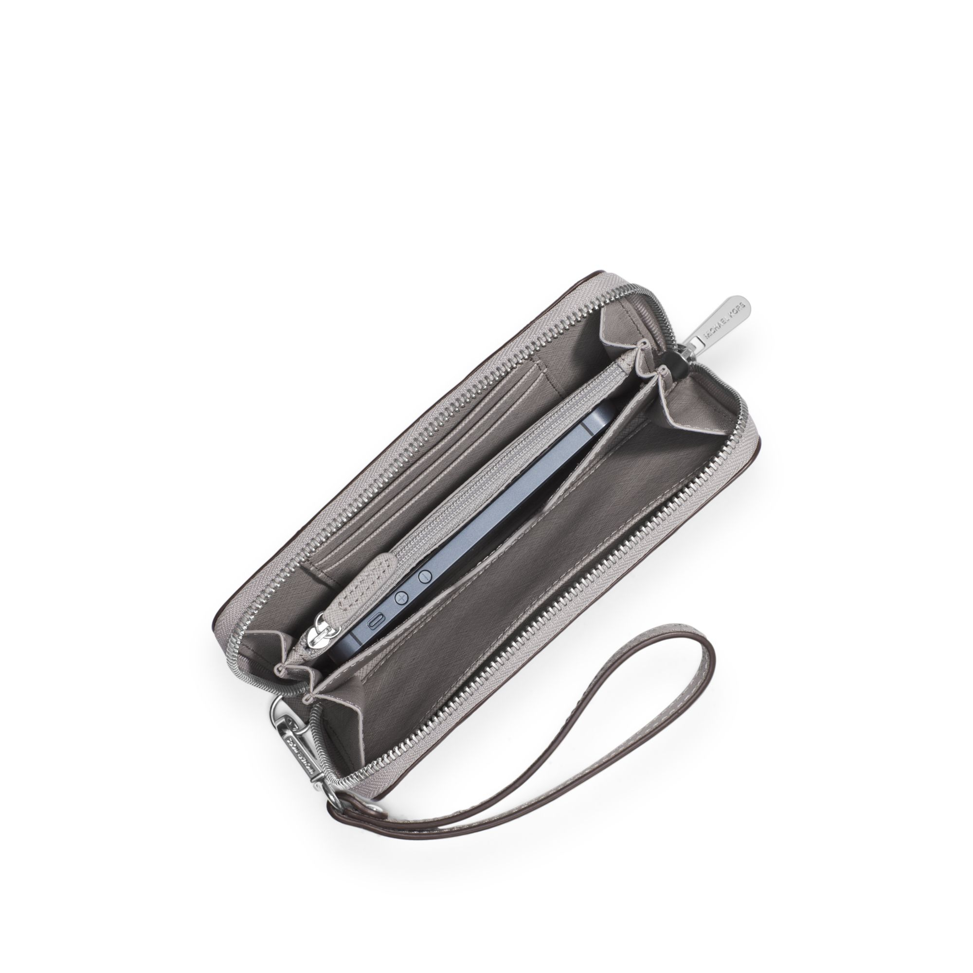 5de019e9b865 Michael Kors Jet Set Travel Micro-stud Saffiano Leather Smartphone ...
