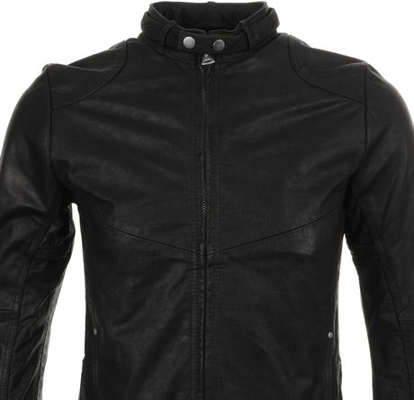 G Star Raw Hermans Leather Jacket In Black Lyst