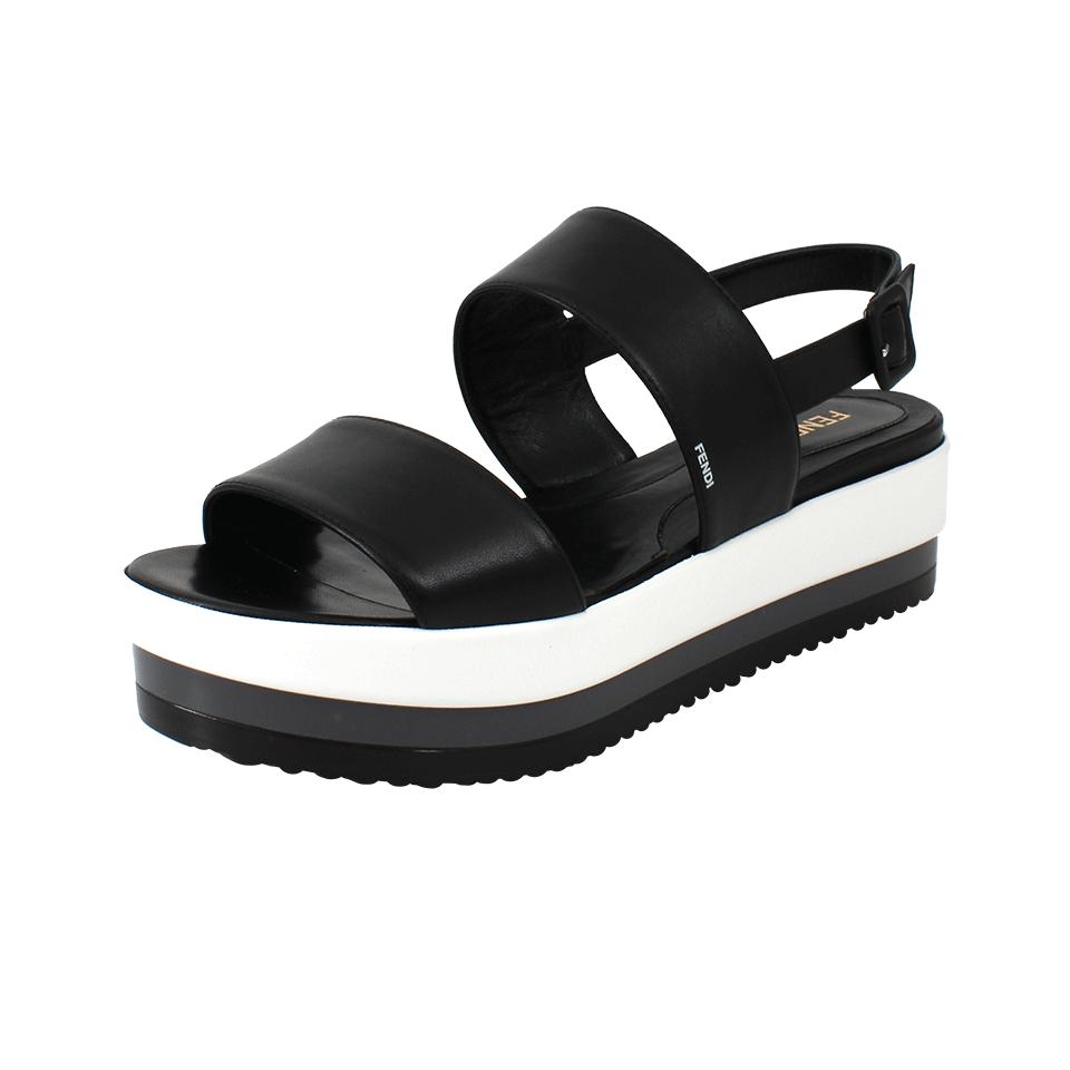 Fendi Chloe Platform Sandal In Black Lyst