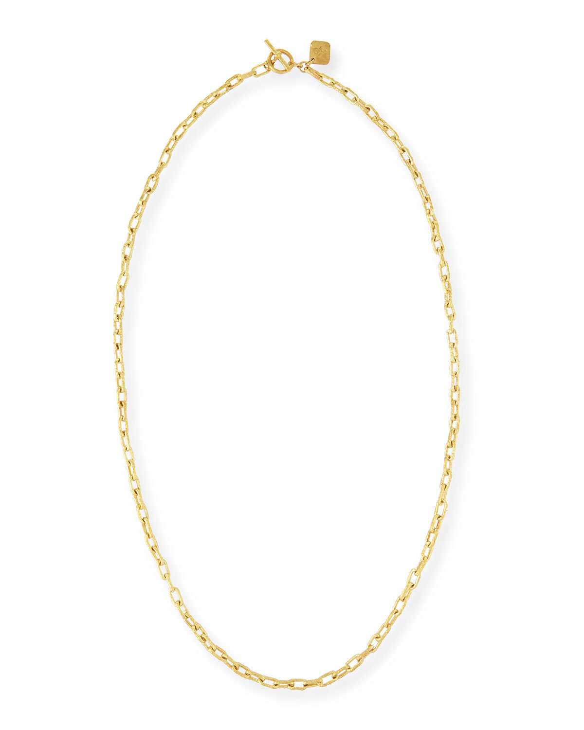 pittman hammered bronze toggle chain necklace in