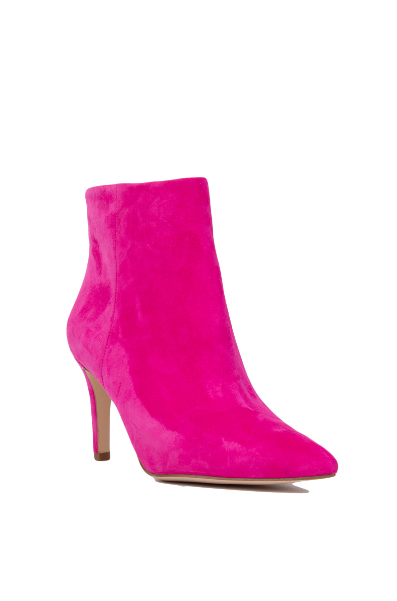 a5f1bf87ad1065 Lyst - Sam Edelman Karen Pointed Toe Booties - Pink Suede in Pink