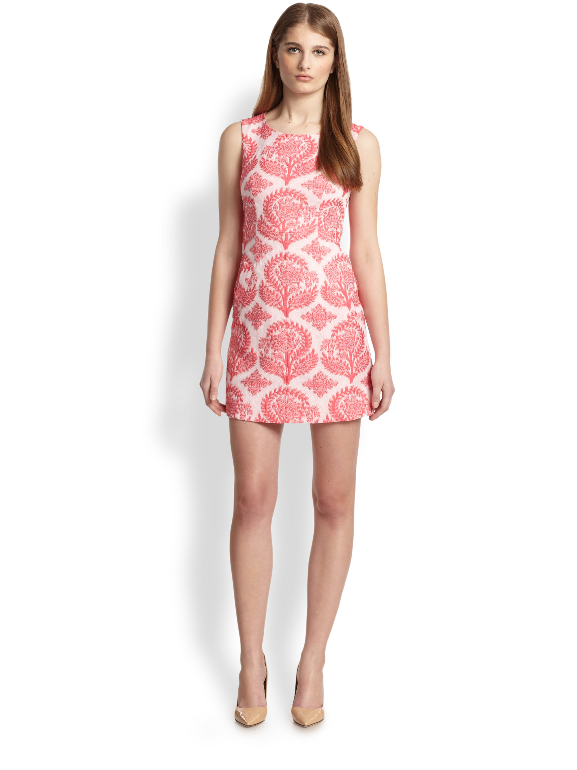Diane von furstenberg capreena floral embroidered dress in for Diane von furstenberg clothes