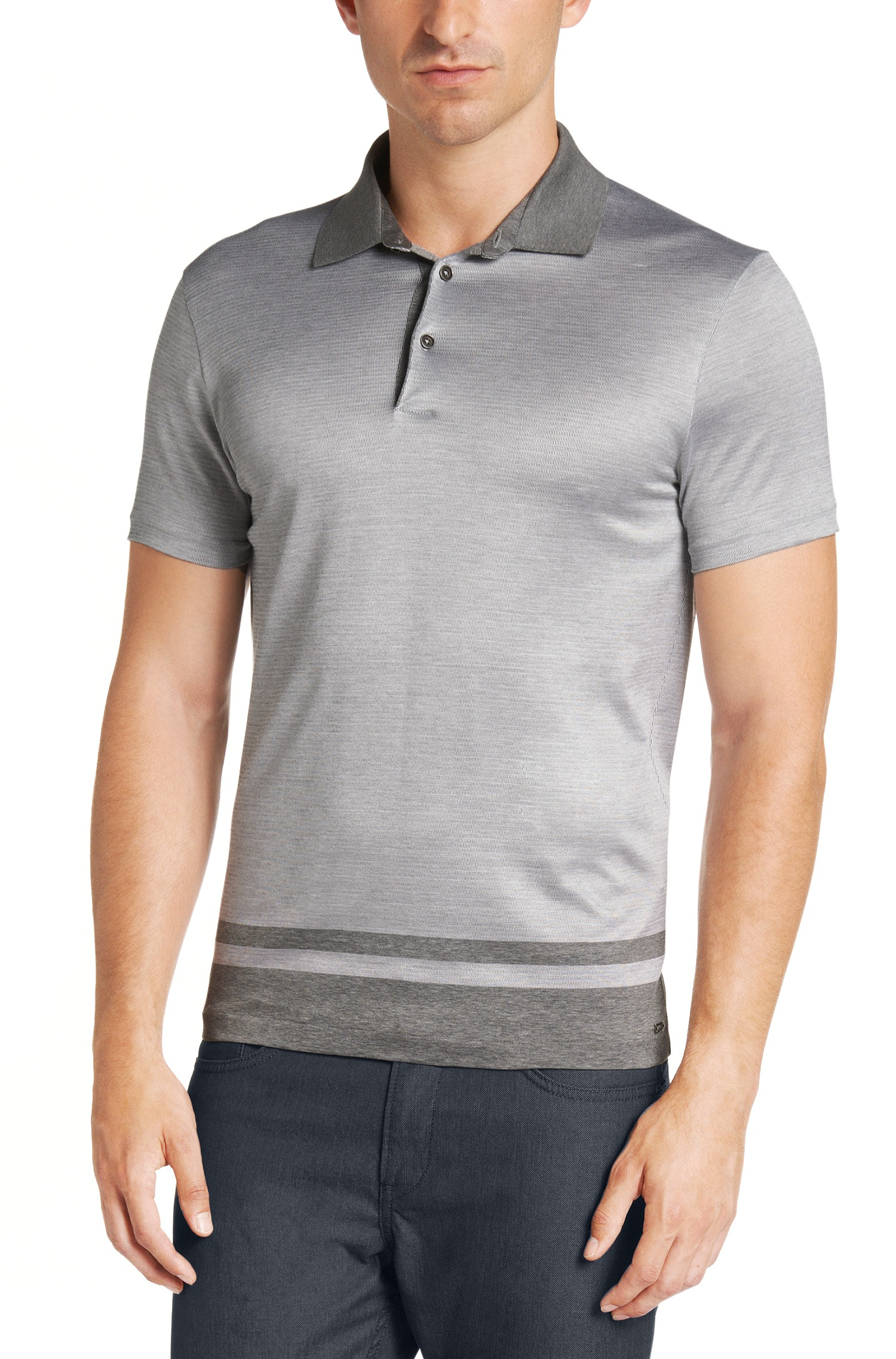 Boss 39 T Parent 39 Slim Fit Italian Silk Blend Polo Shirt