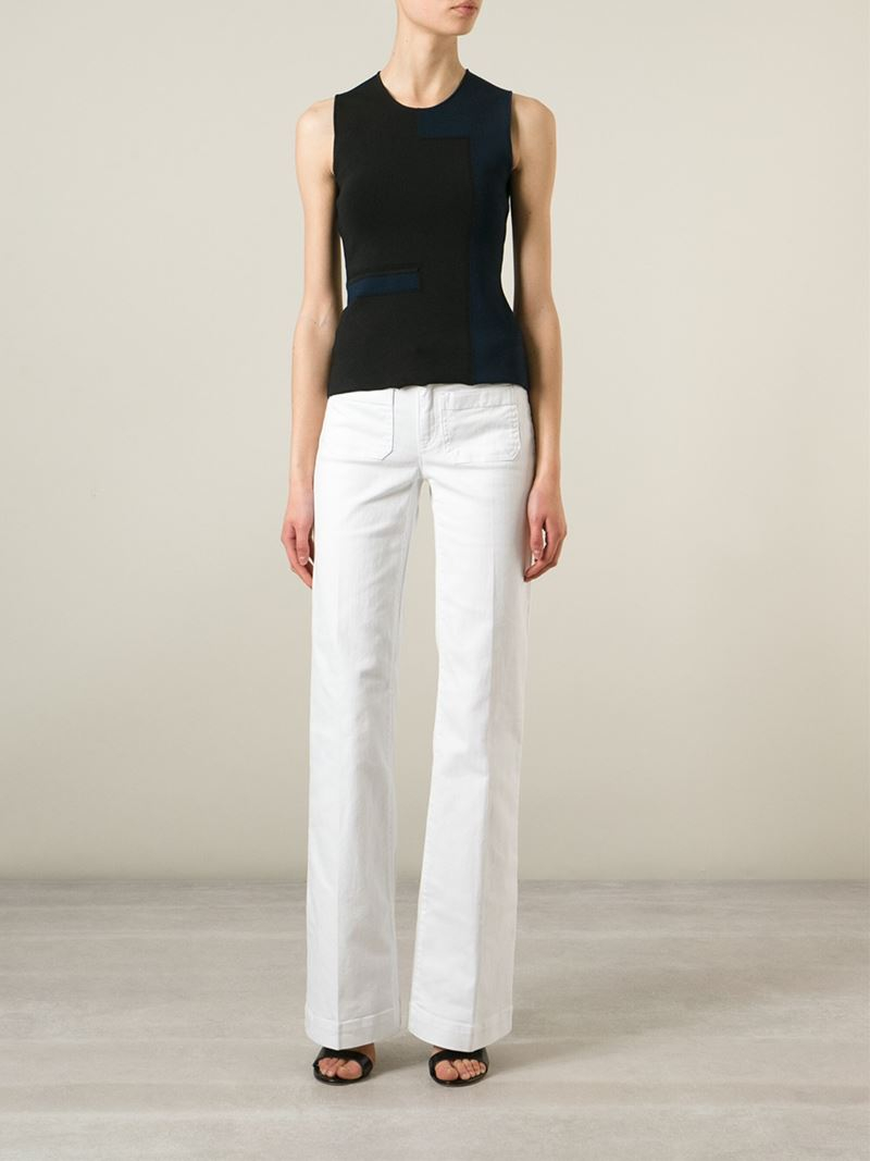 Michael michael kors Wide Leg Jeans in White | Lyst
