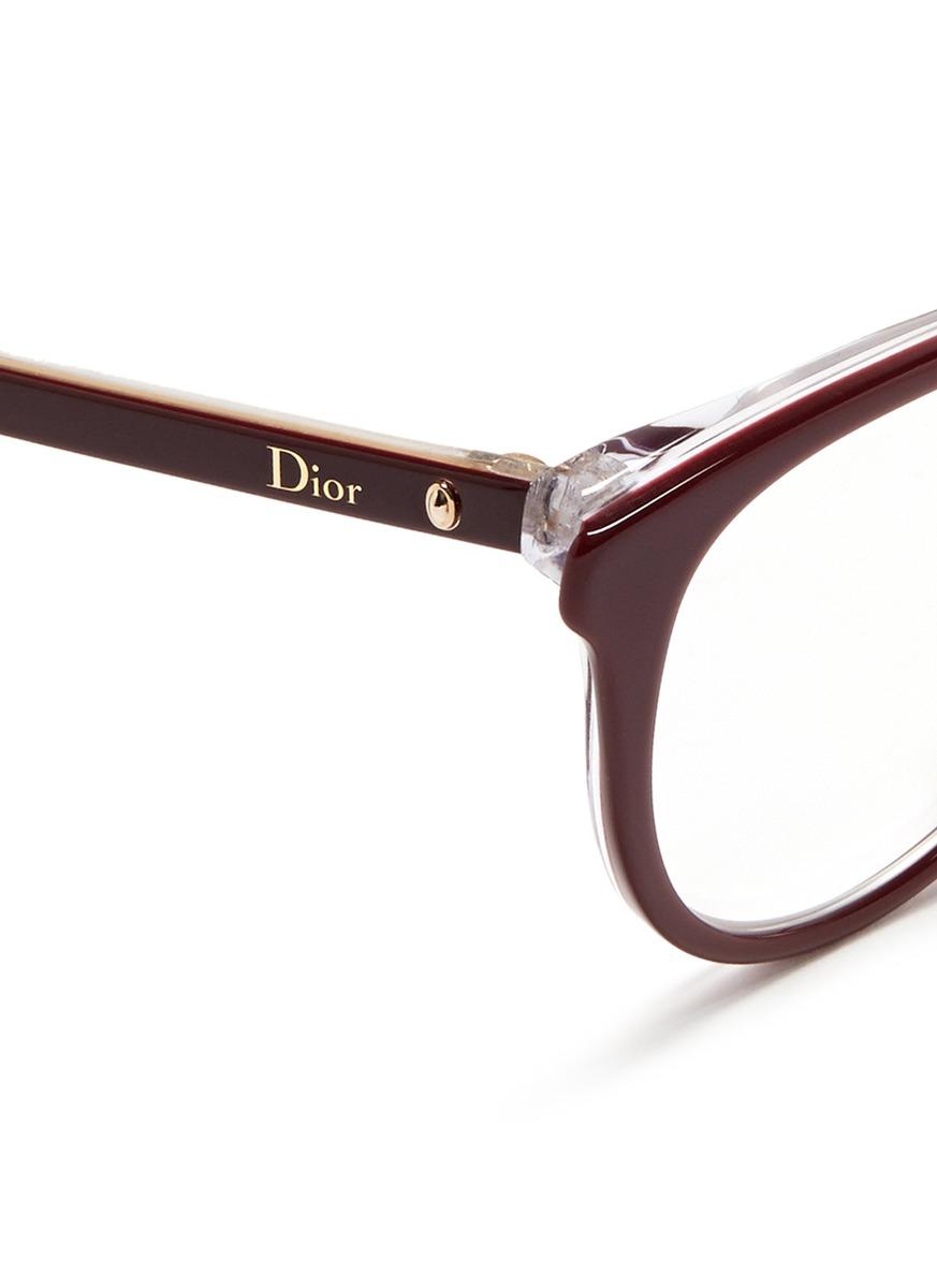 a328b54465 Red brown Cat Eye Eyeglass Frames For Women By Dior - Bitterroot ...
