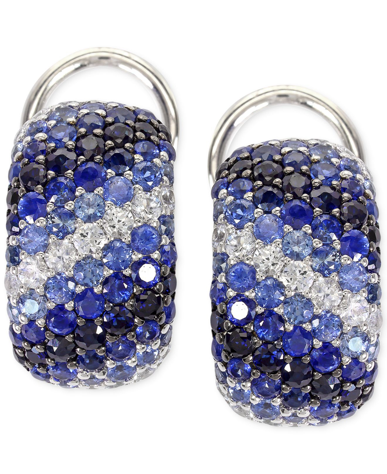 Effy Collection Balissima By Sapphire Hoop Earrings In