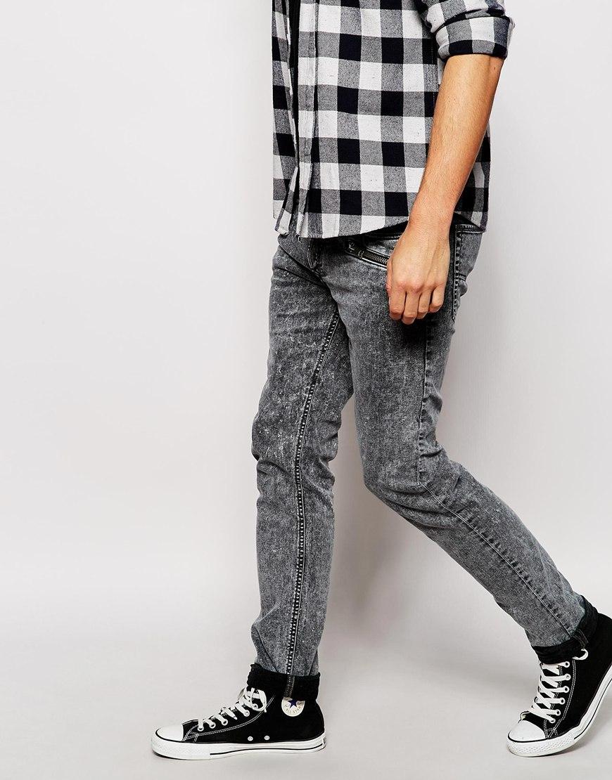 Black Stretch Skinny Jeans Men