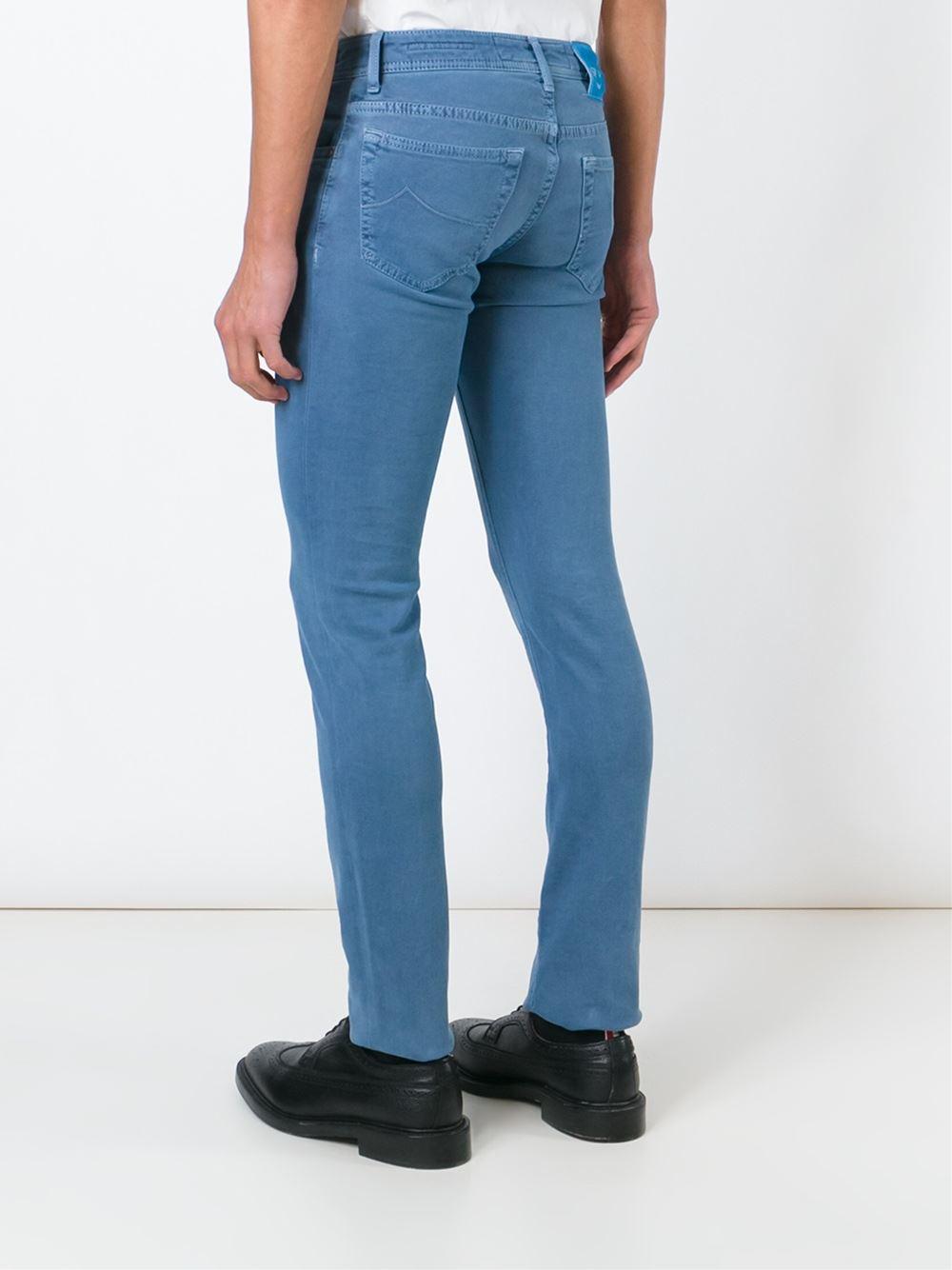 Jacob cohen slim fit jeans in blue for men lyst - Jacob cohen denim ...