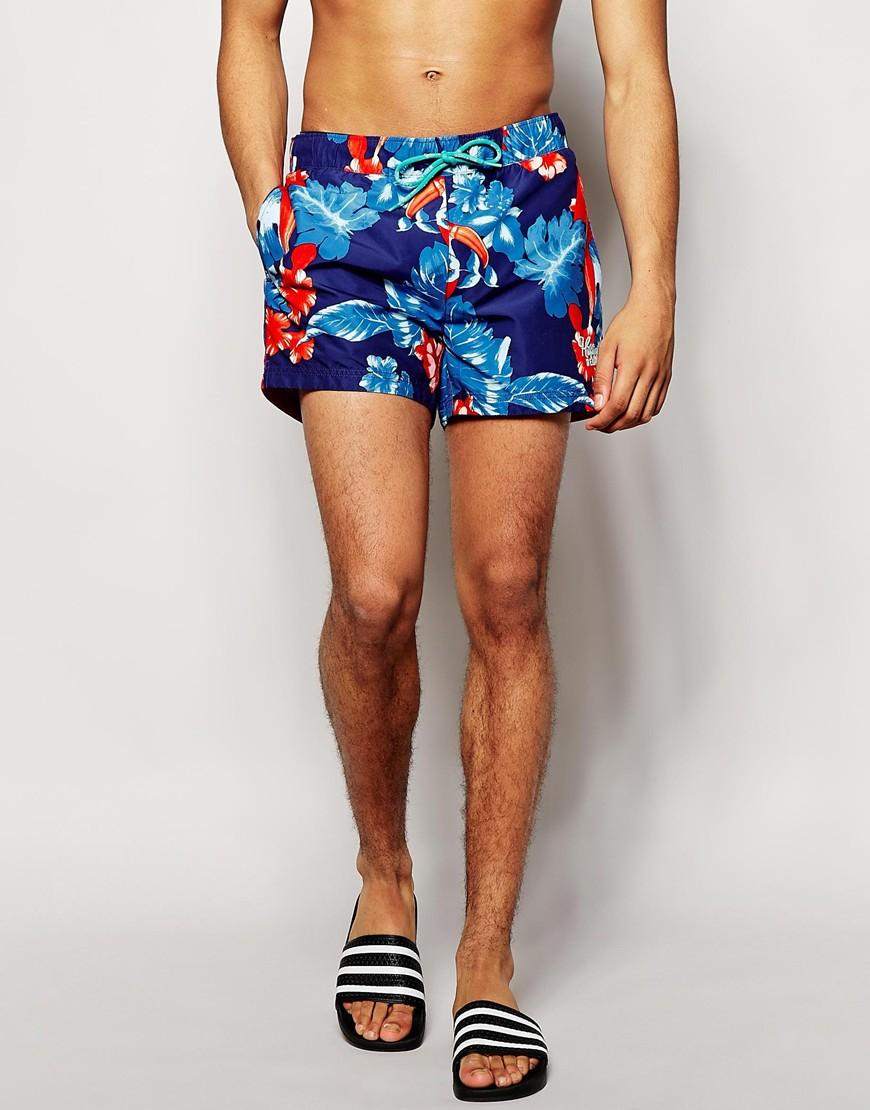 c2aec92031 Tommy Hilfiger Gene Hawaiian Swim Shorts in Blue for Men - Lyst