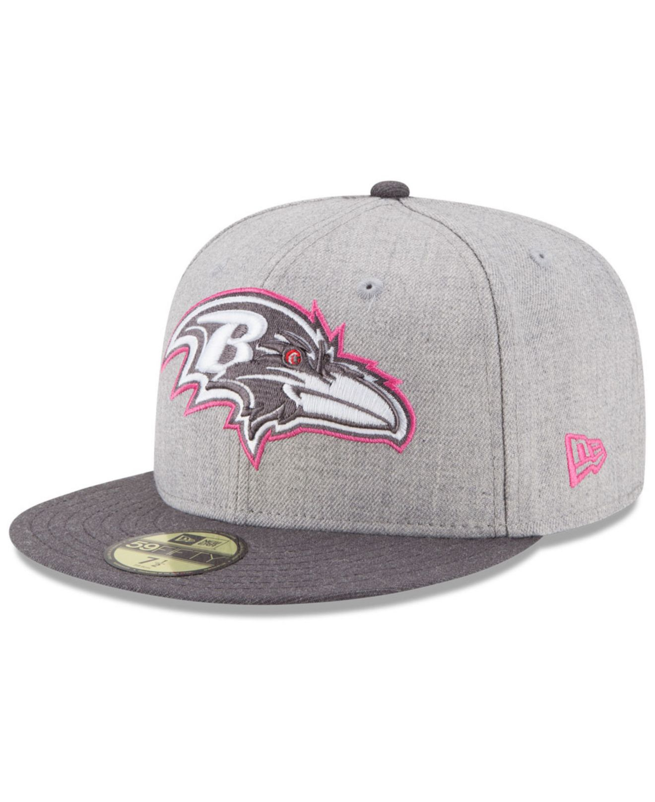 ... 39thirty hat grey large 1d38d c44dc  norway lyst ktz baltimore ravens breast  cancer awareness 59fifty cap in a4751 30217 5143c2f74009