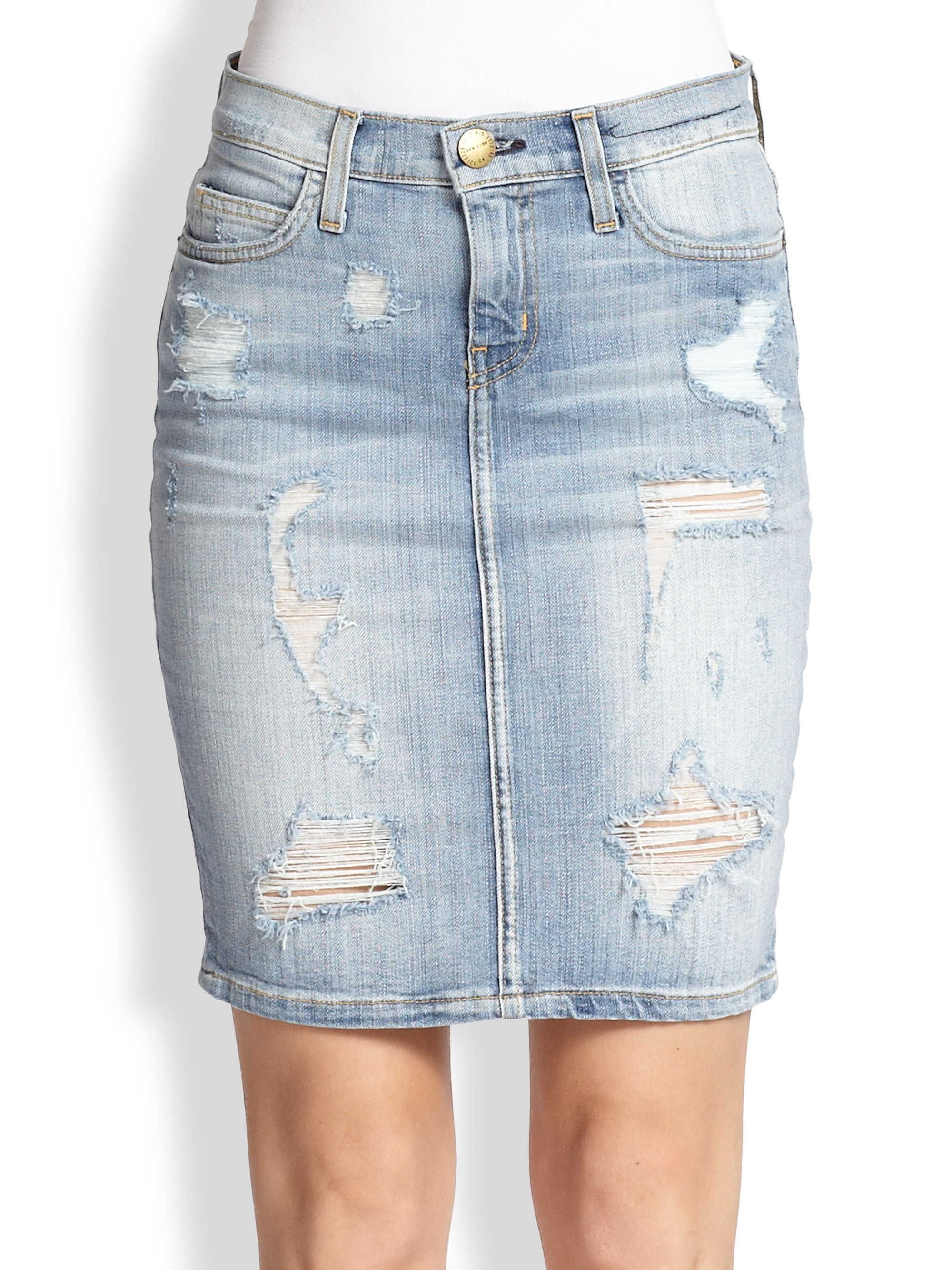 Distressed pencil jean skirt – Modern skirts blog for you