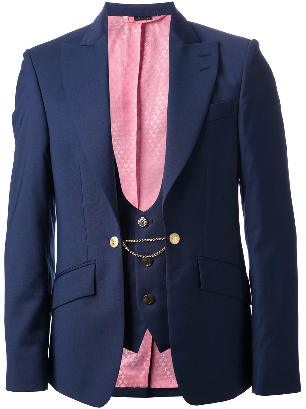 Vivienne Westwood Blazer And Waist Coat In Blue For Men Lyst