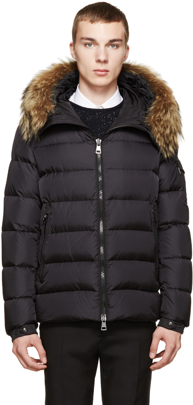 43ab0f1e3e78af ... coupon lyst moncler black down byron jacket in black for men 6a310  2a886 ...