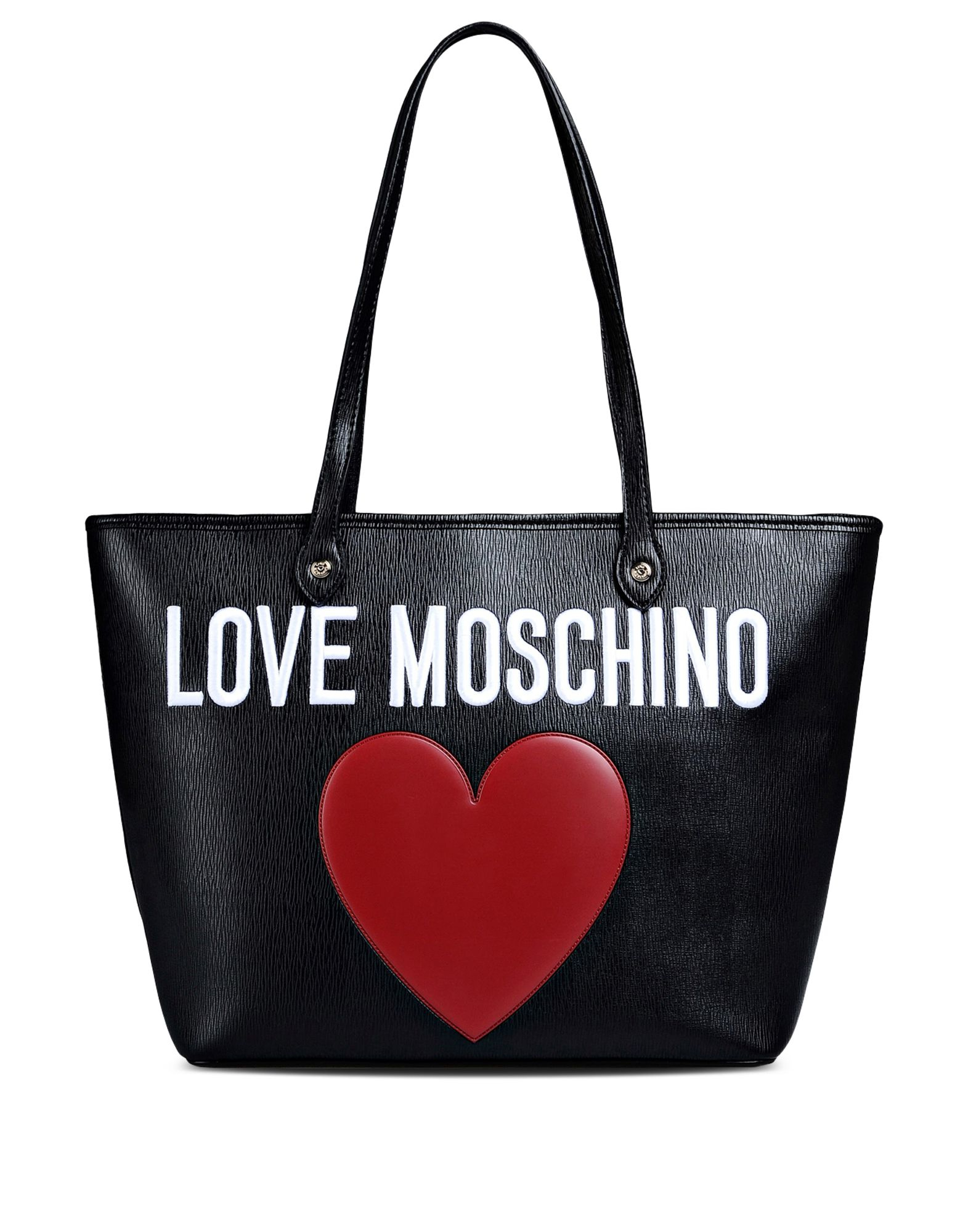 love moschino large fabric bag in black lyst. Black Bedroom Furniture Sets. Home Design Ideas
