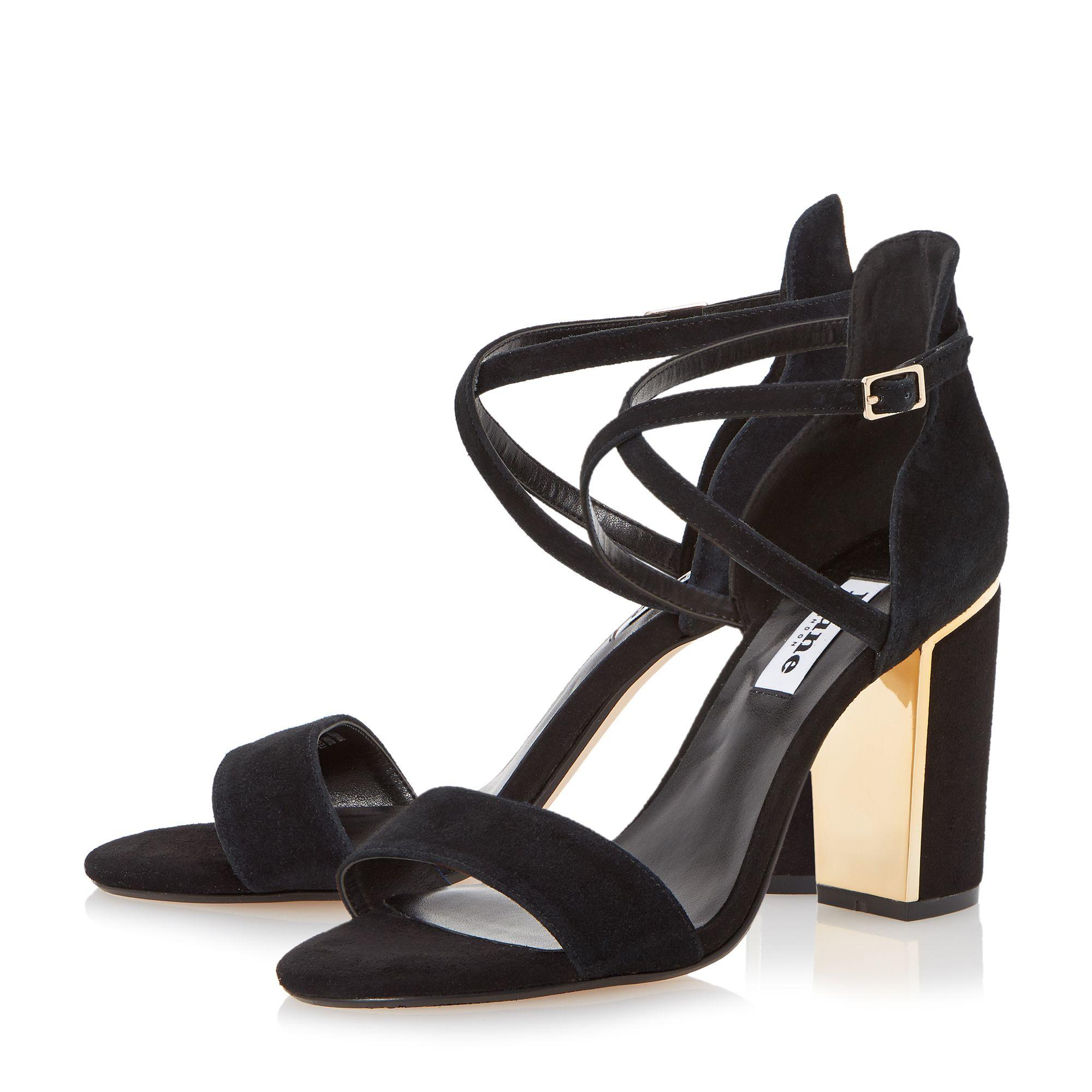 Black Strap Black Heel Shoes Zoe Ball