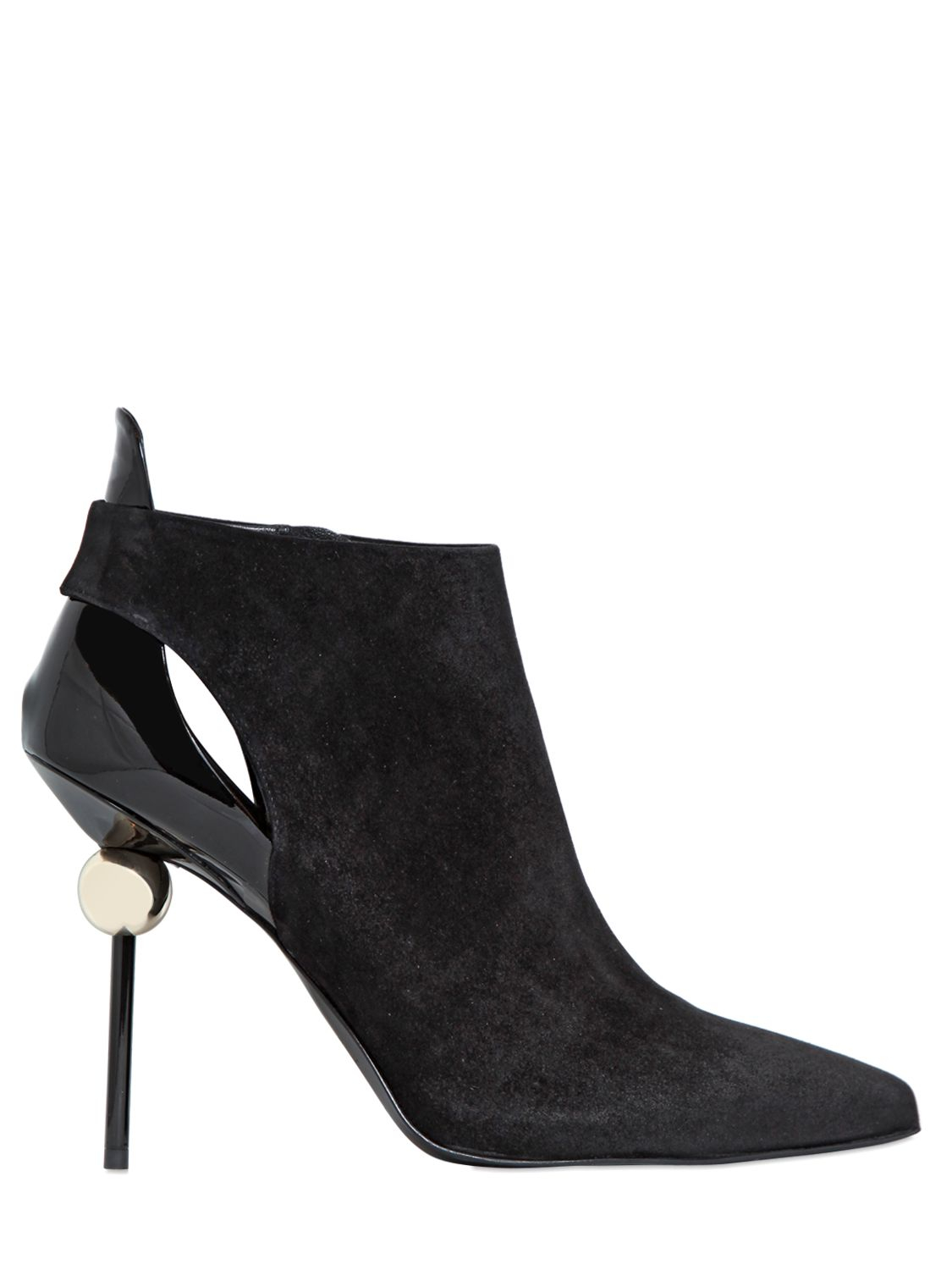 Lyst Roger Vivier 110mm Sphere Suede Ankle Boots In Black